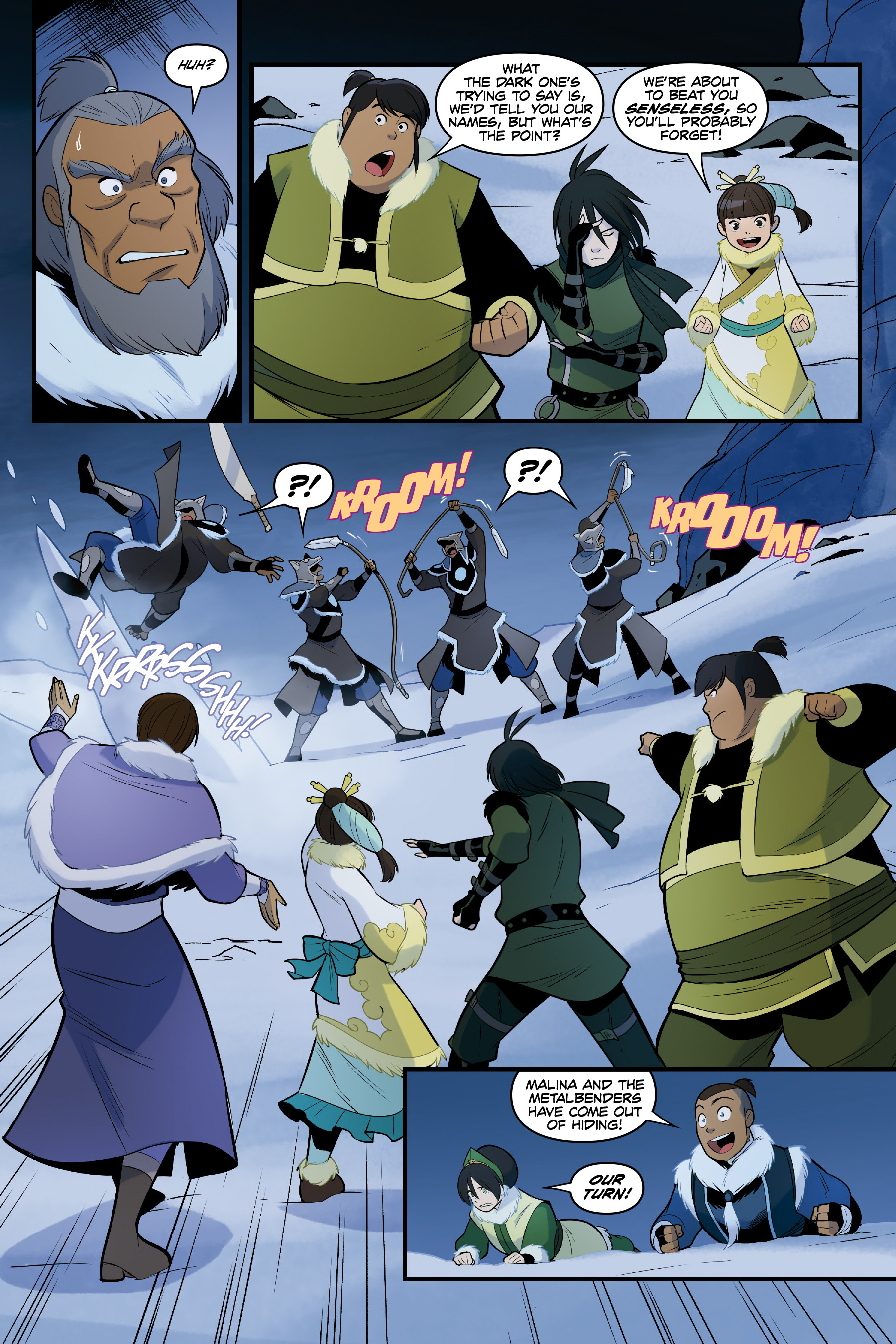Read online Nickelodeon Avatar: The Last Airbender - North and South comic -  Issue #3 - 55