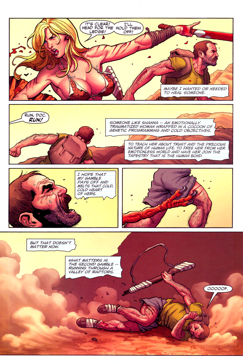 Read online Shanna, the She-Devil (2005) comic -  Issue #6 - 7