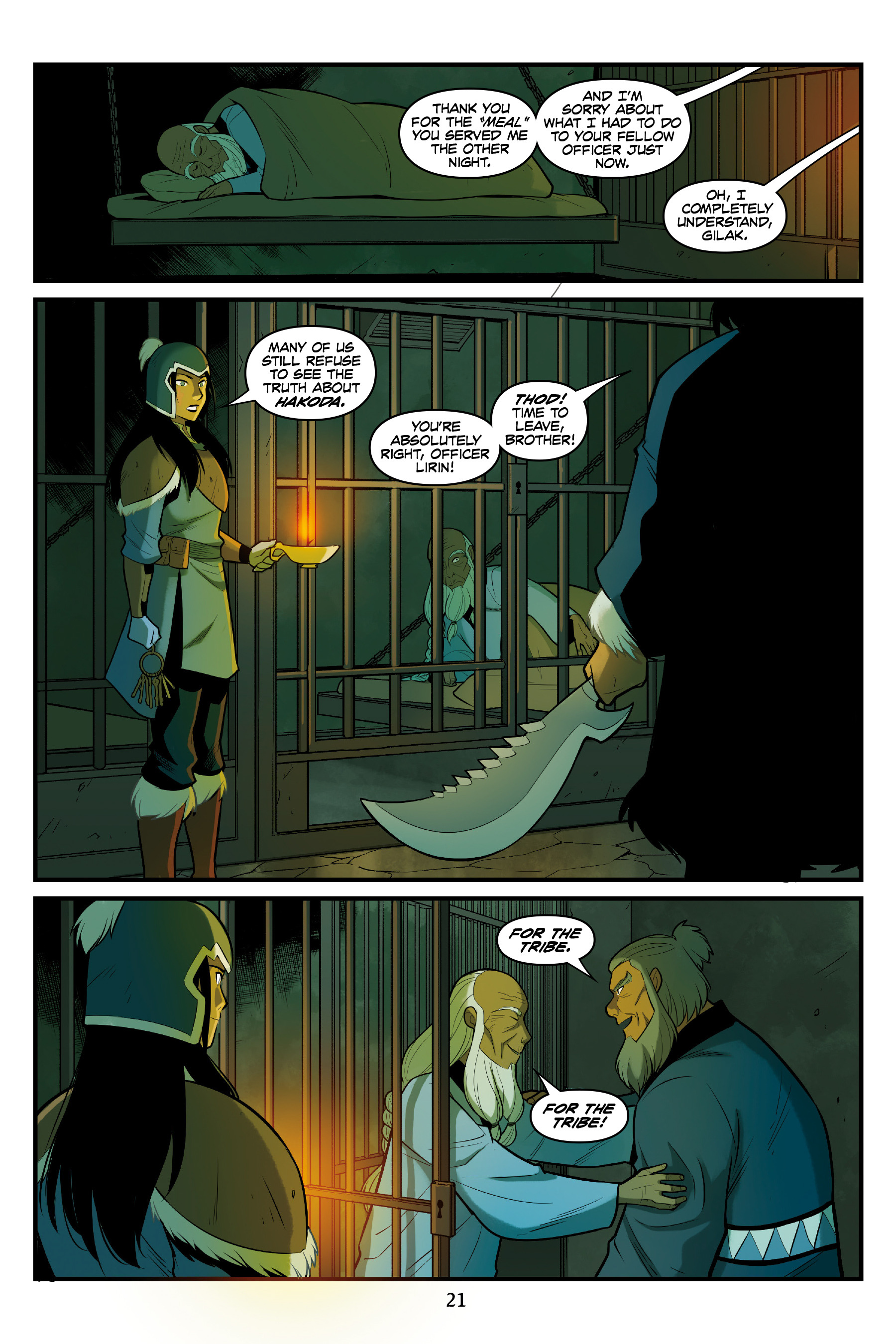 Read online Nickelodeon Avatar: The Last Airbender - North and South comic -  Issue #3 - 22