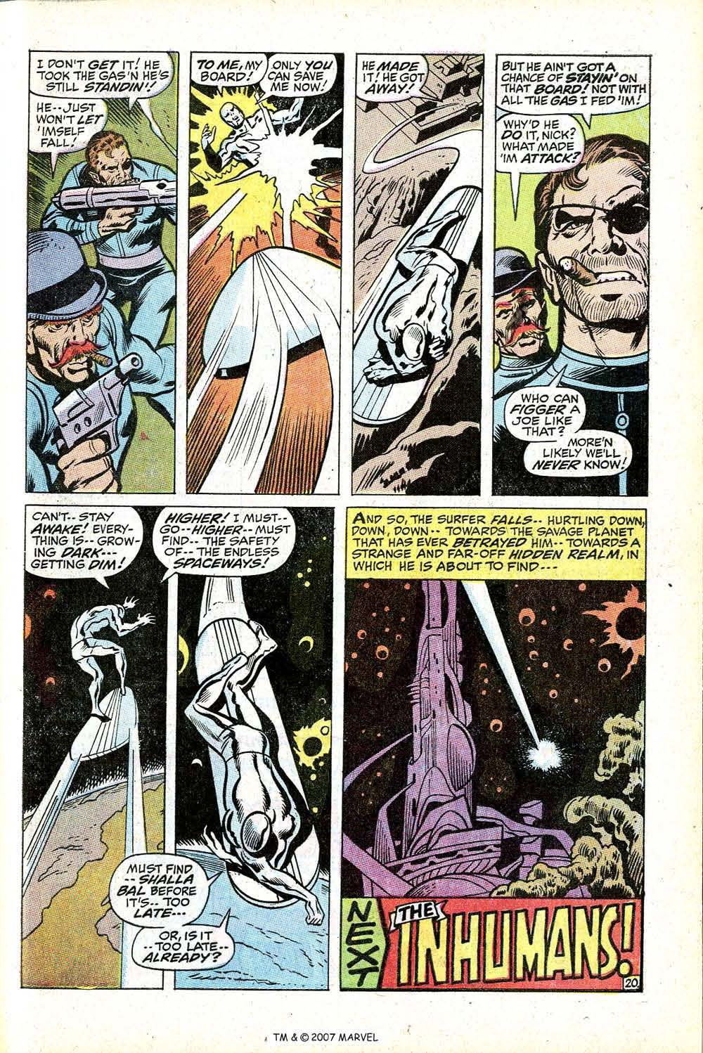 Read online Silver Surfer (1968) comic -  Issue #17 - 29
