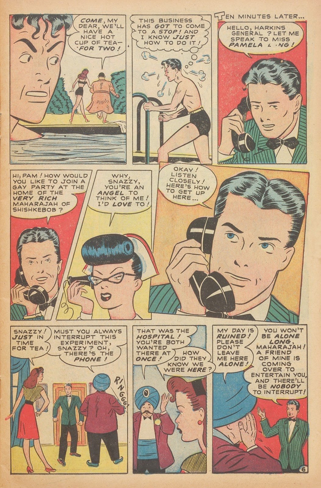 Read online Nellie The Nurse (1945) comic -  Issue #15 - 17