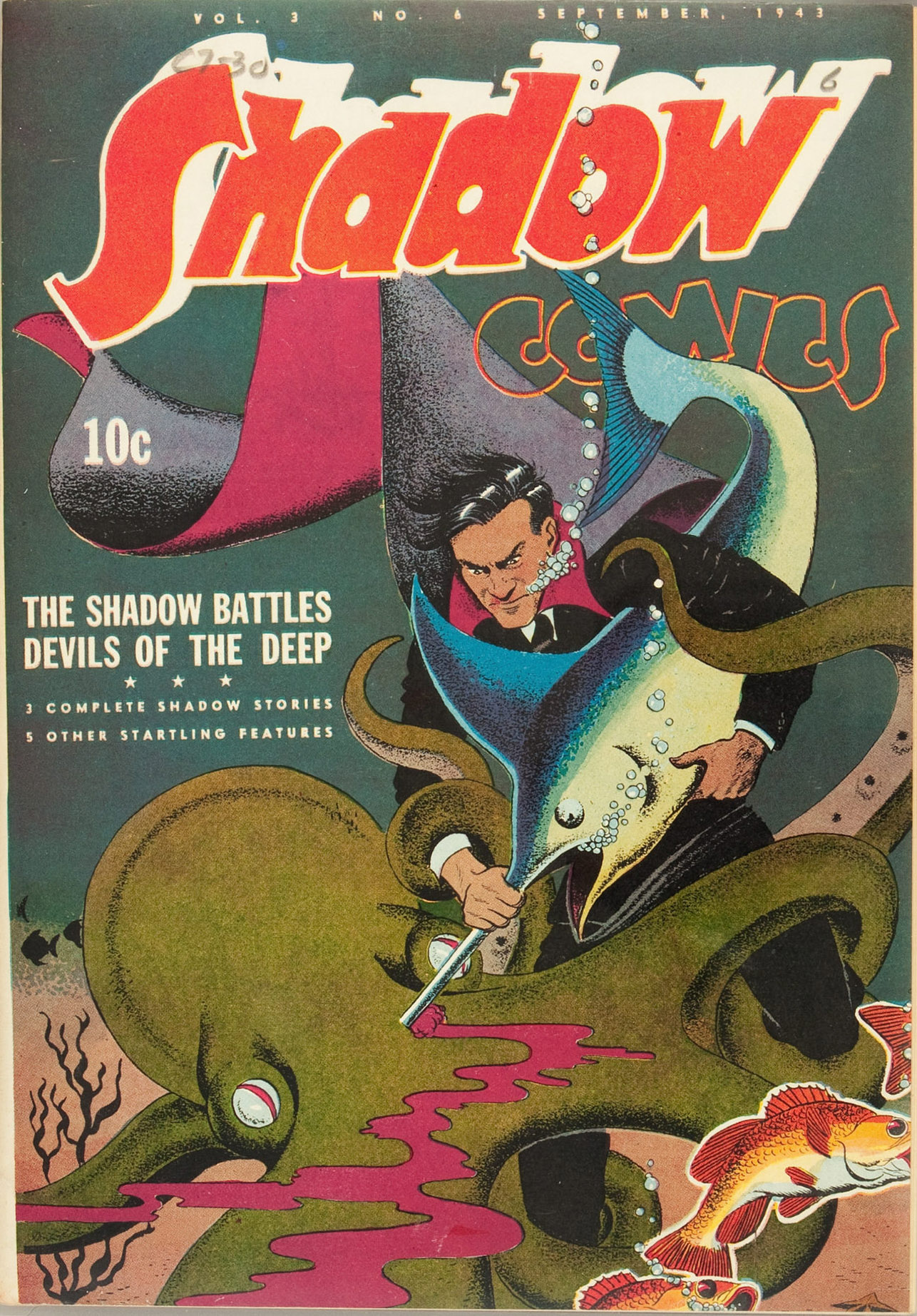Read online Shadow Comics comic -  Issue #30 - 1