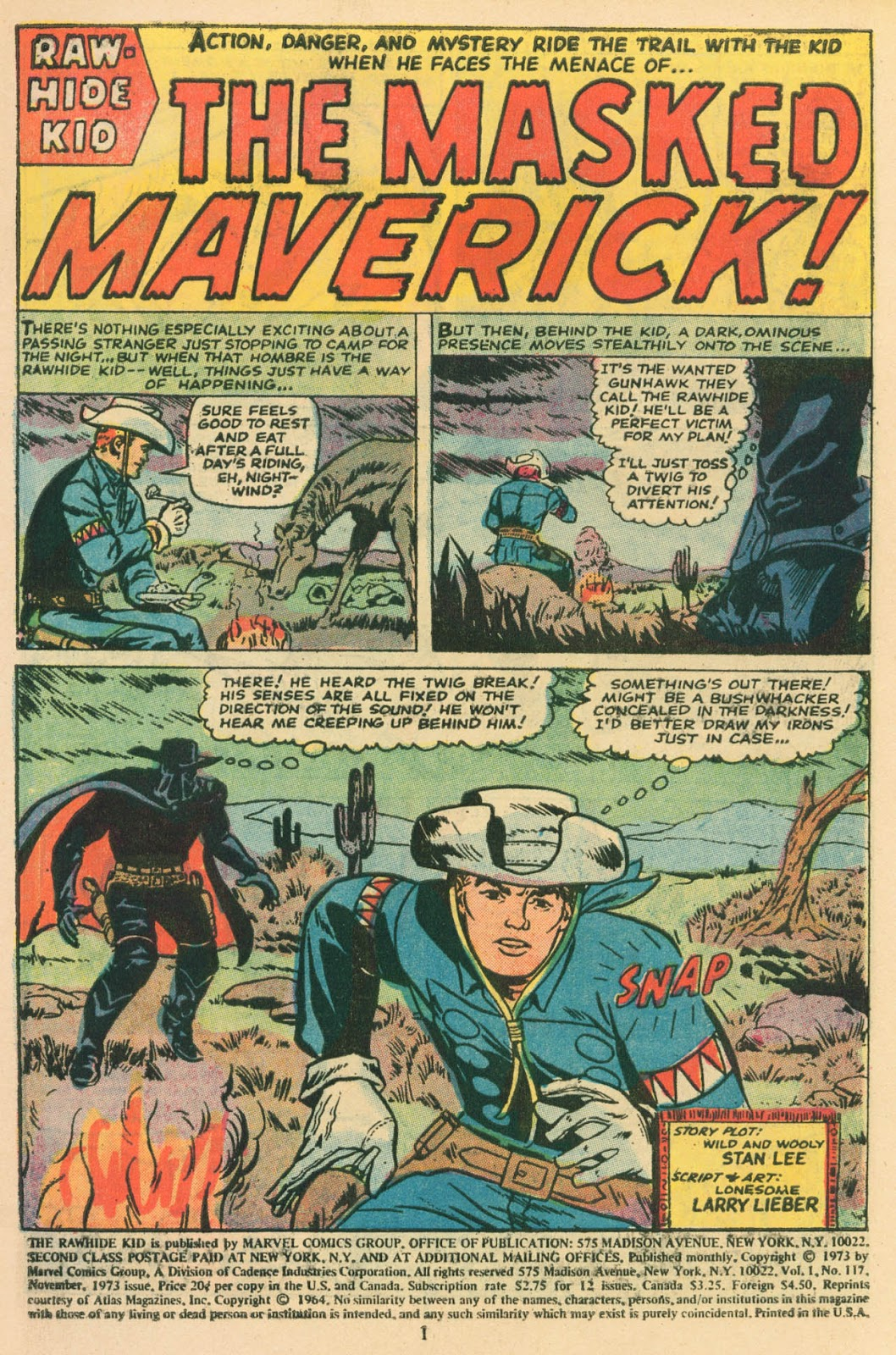 The Rawhide Kid (1955) issue 117 - Page 2