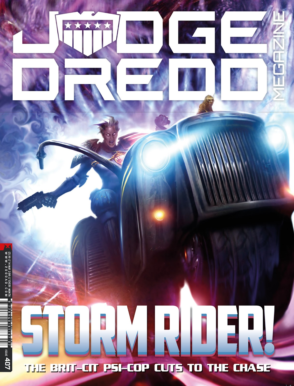 Judge Dredd Megazine (Vol. 5) issue 407 - Page 1