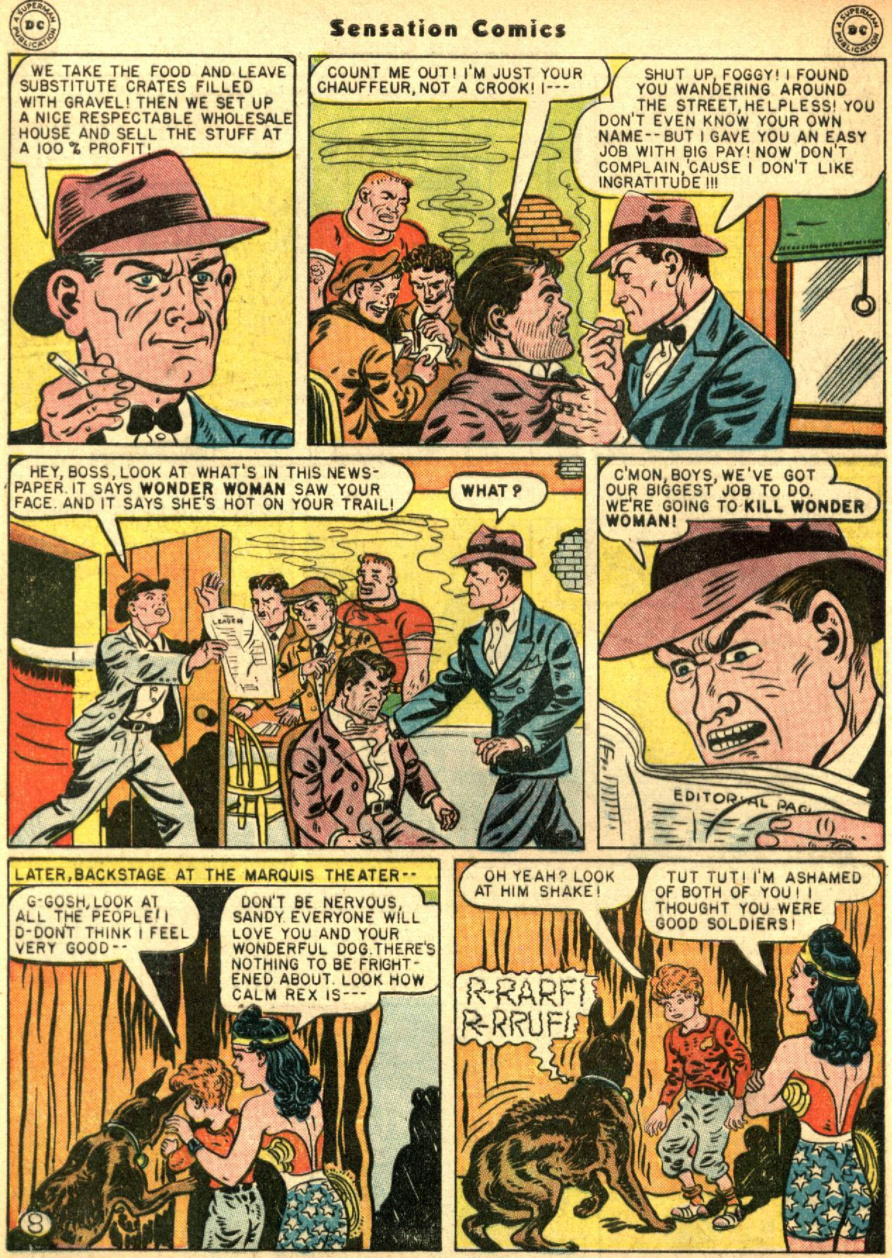 Read online Sensation (Mystery) Comics comic -  Issue #53 - 10