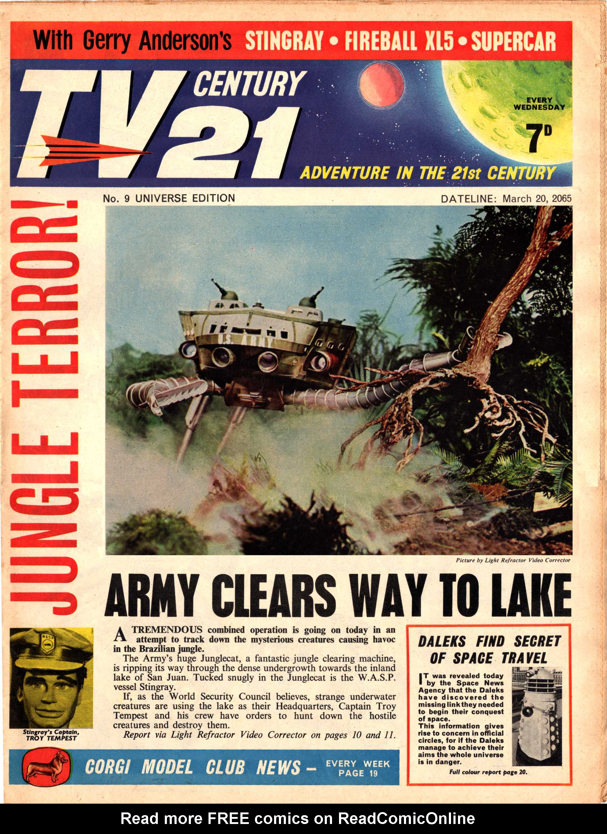 Read online TV Century 21 (TV 21) comic -  Issue #9 - 2
