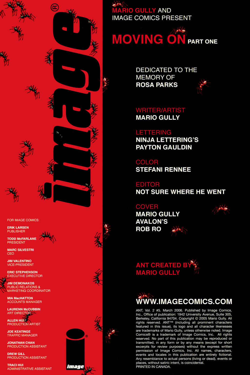 Read online Ant comic -  Issue #5 - 2