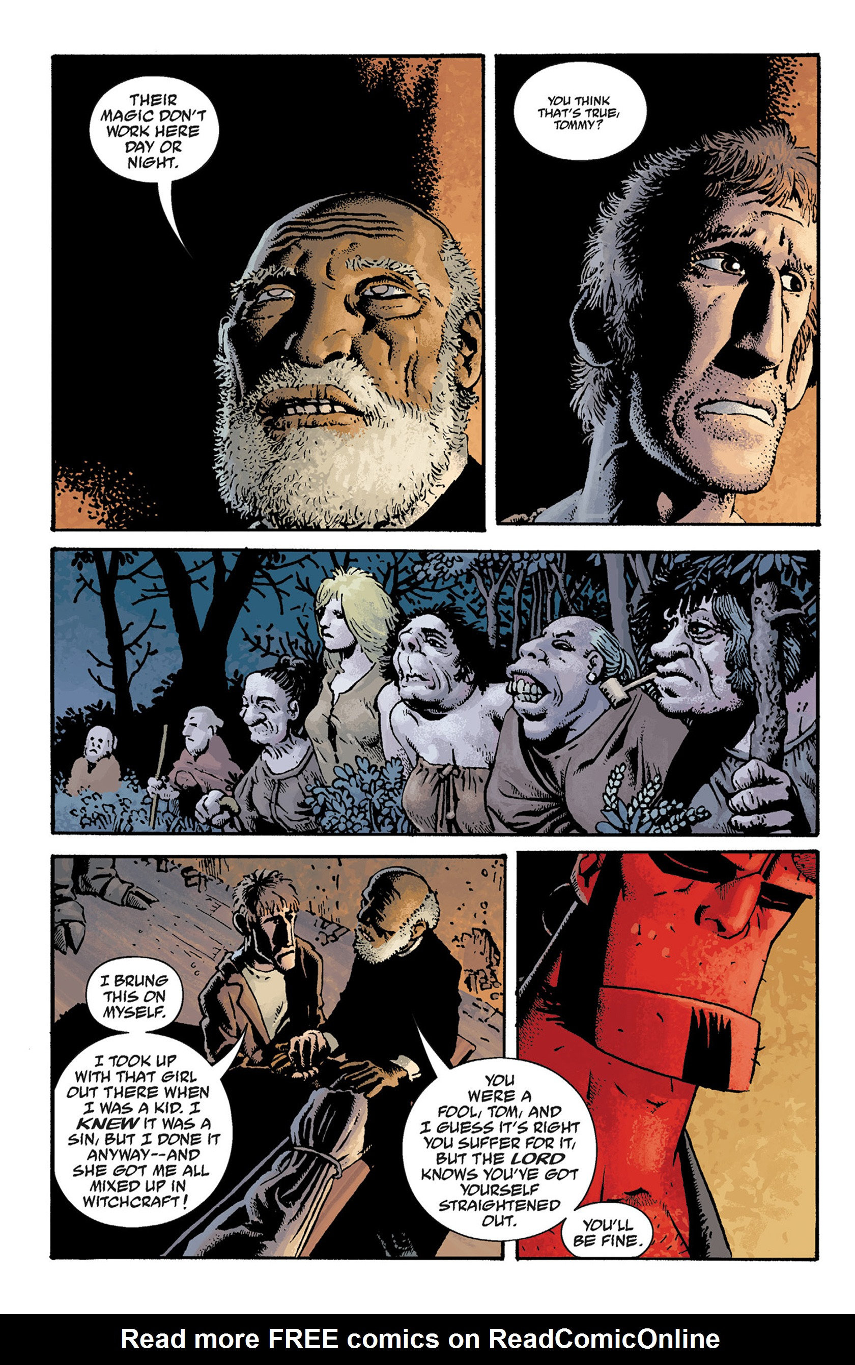Read online Hellboy: The Crooked Man and Others comic -  Issue # TPB - 54