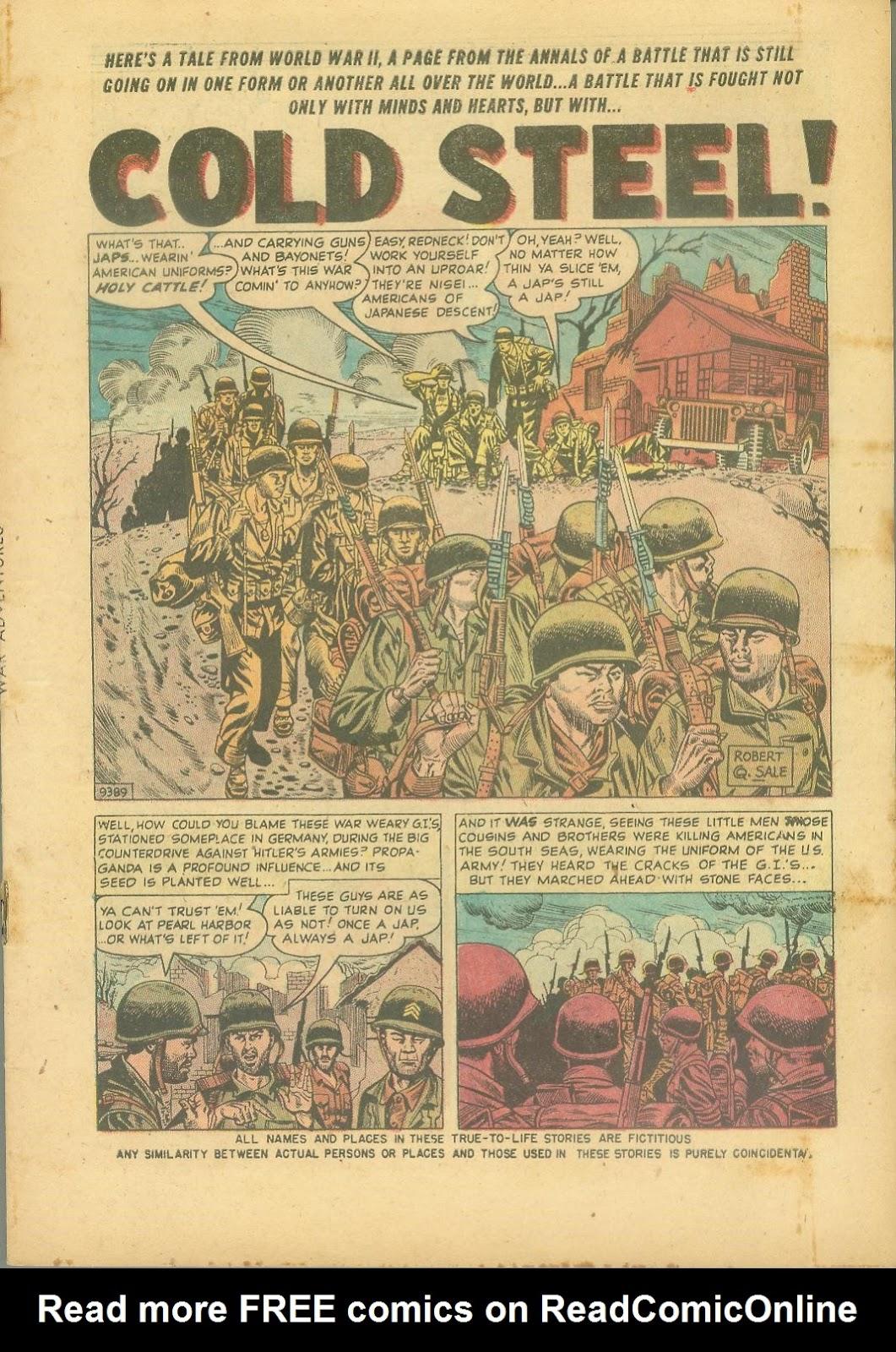 War Adventures issue 1 - Page 3