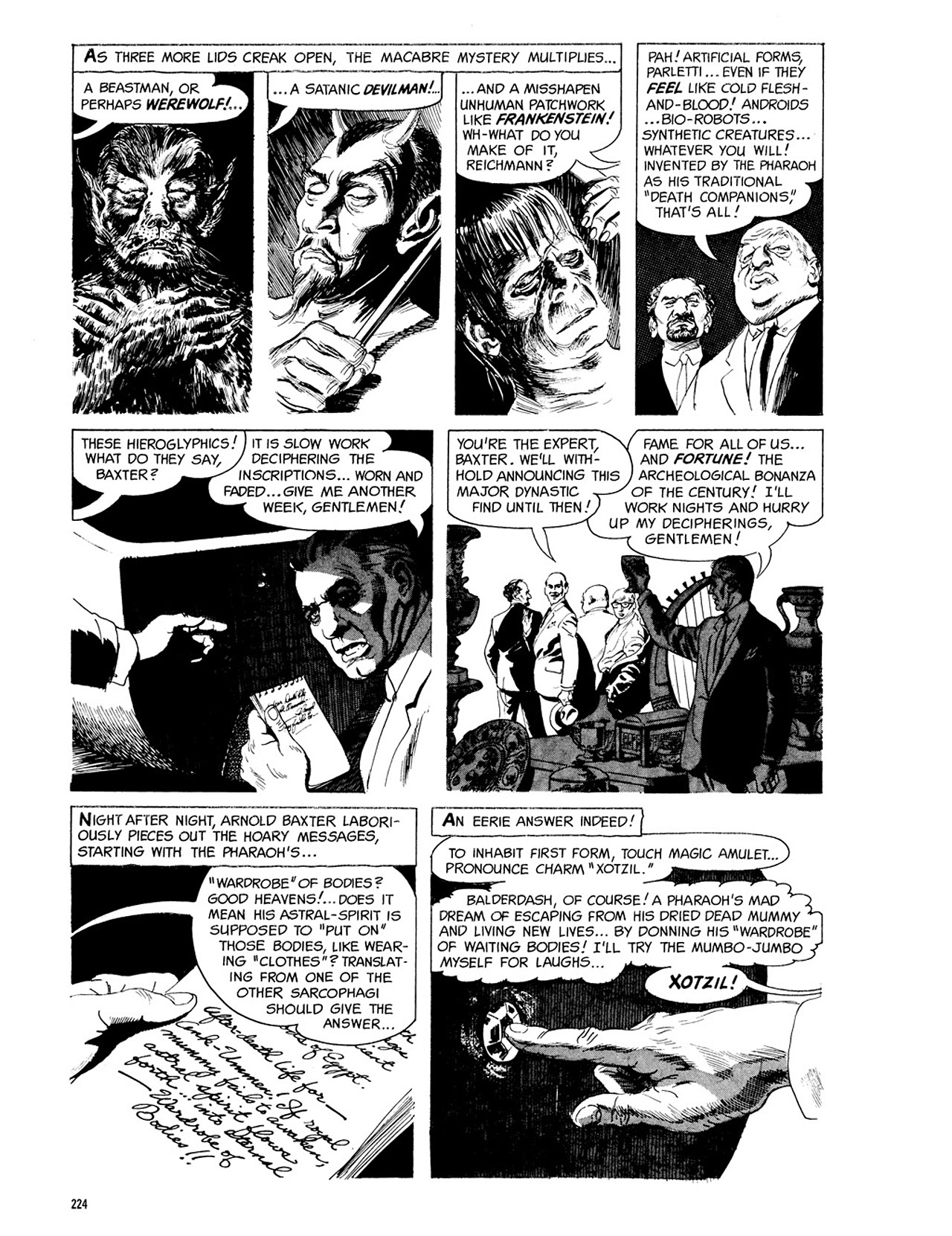 Read online Eerie Archives comic -  Issue # TPB 3 - 225