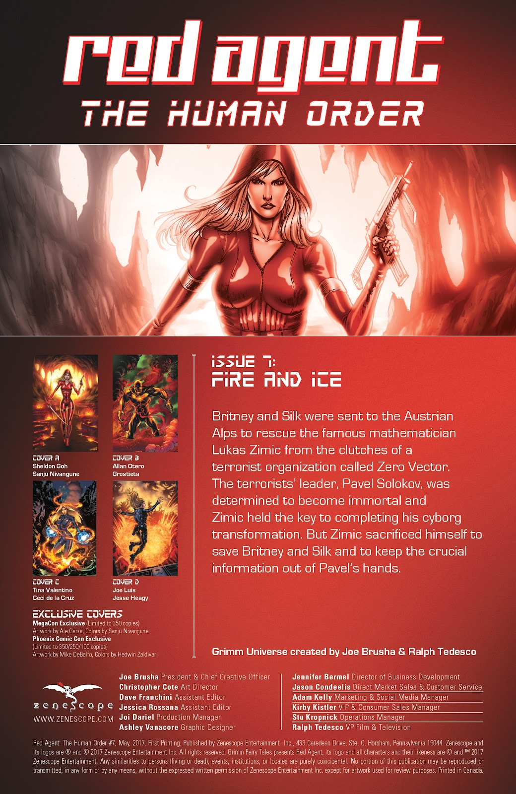 Comic Grimm Fairy Tales presents Red Agent: The Human Order issue 7