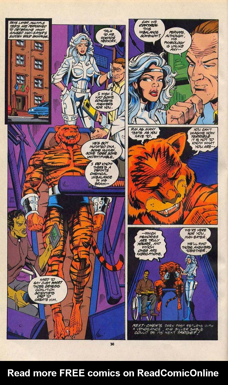 Read online Silver Sable and the Wild Pack comic -  Issue #27 - 23