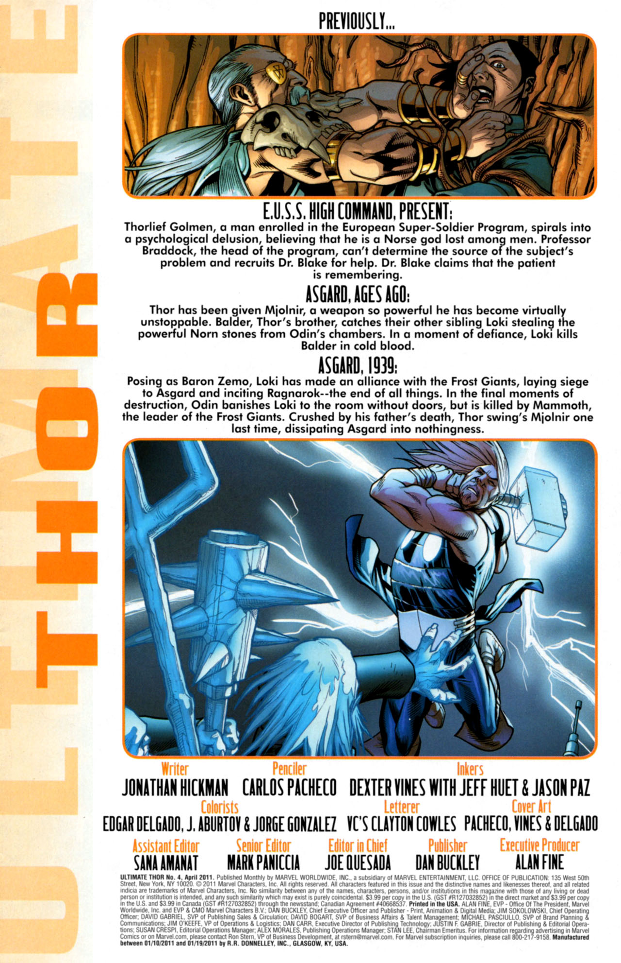 Read online Ultimate Thor comic -  Issue #4 - 2