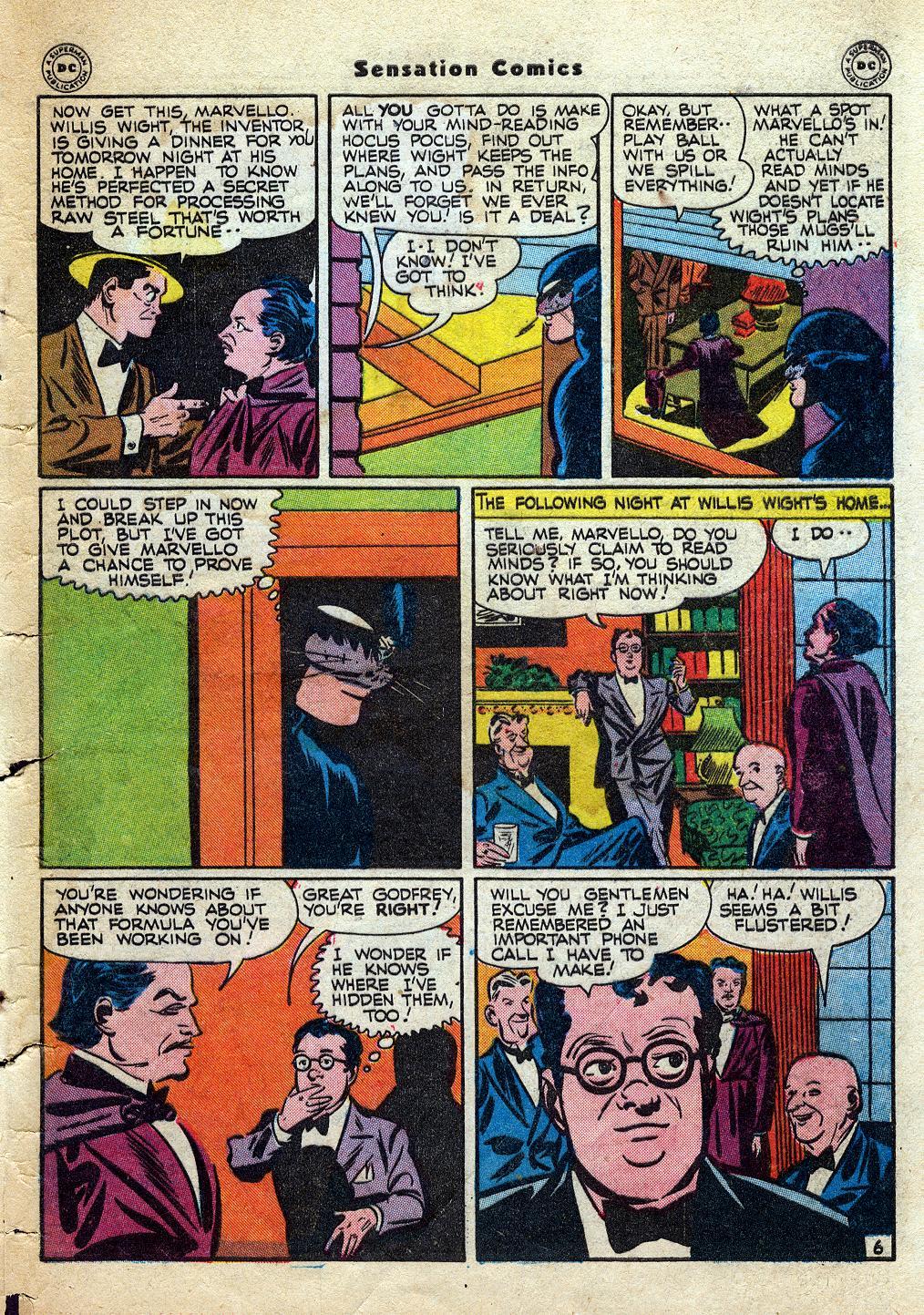 Read online Sensation (Mystery) Comics comic -  Issue #60 - 47