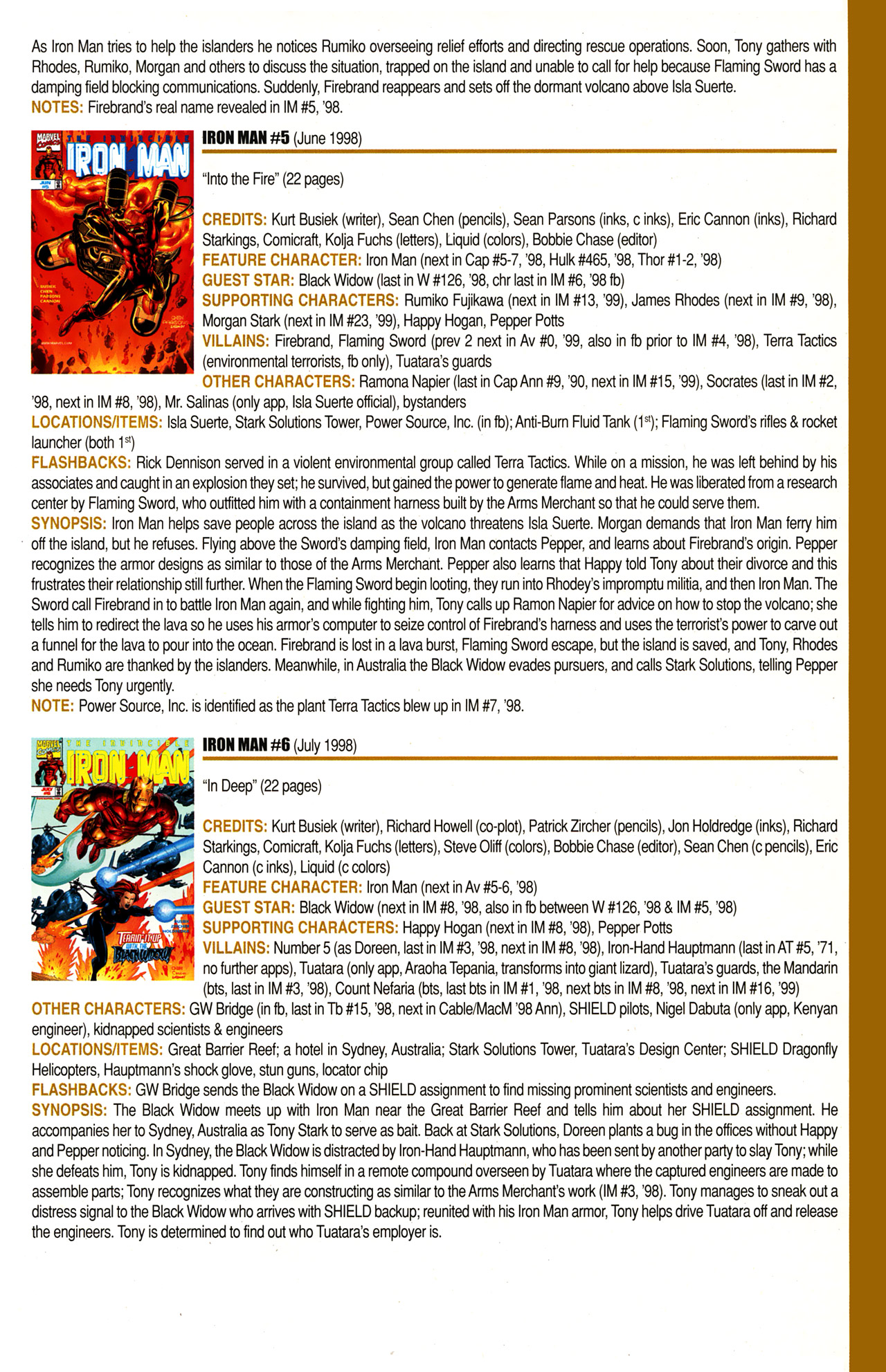 Read online Official Index to the Marvel Universe comic -  Issue #10 - 29