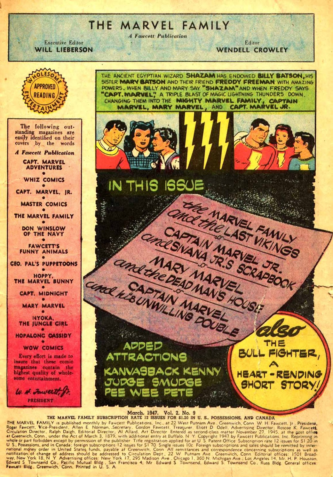 The Marvel Family issue 9 - Page 3