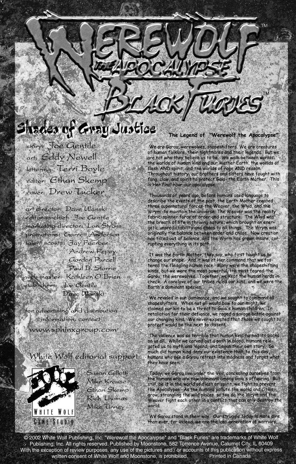 Read online Werewolf the Apocalypse comic -  Issue # Black Furies - 2