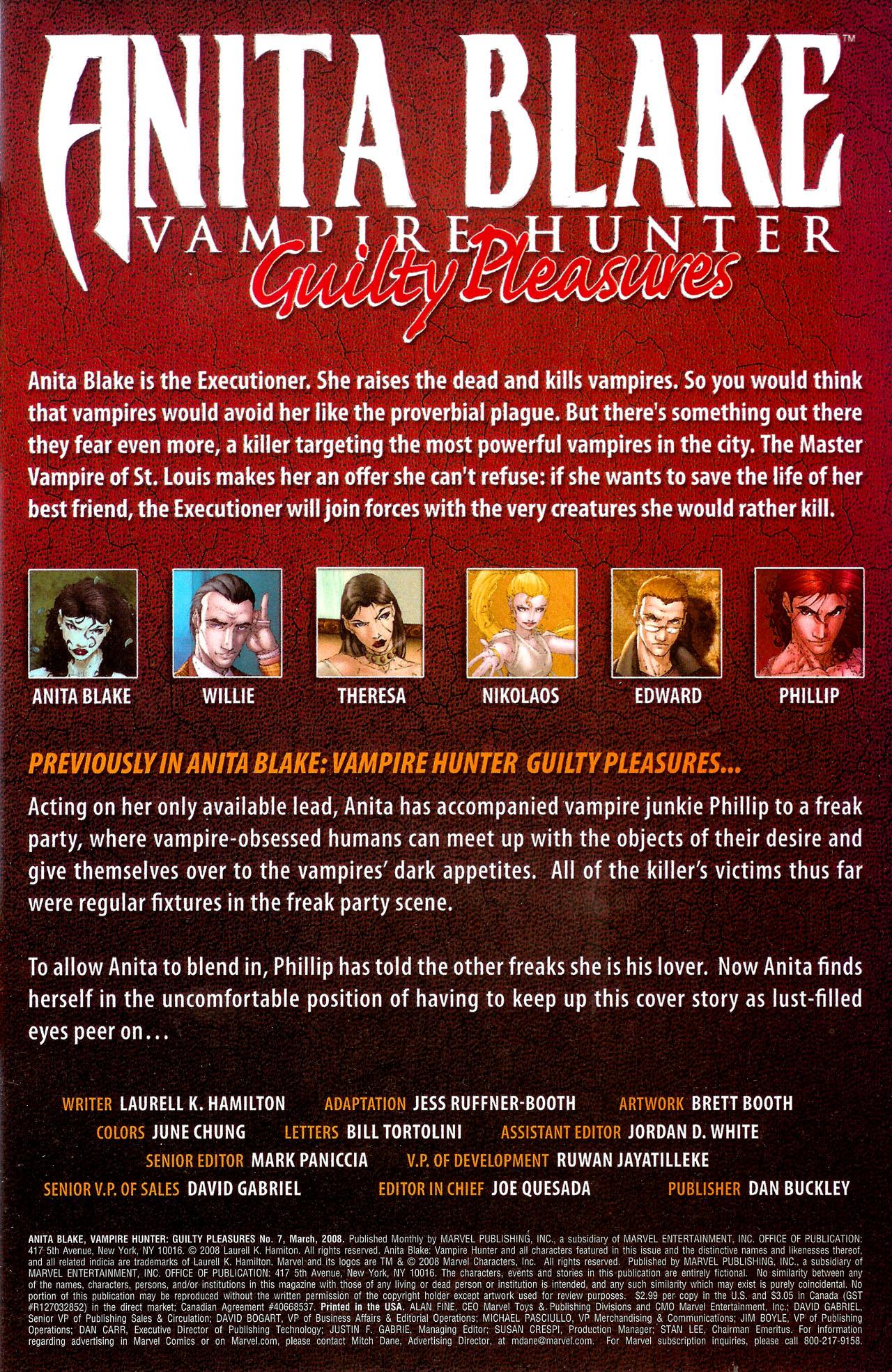 Read online Anita Blake, Vampire Hunter: Guilty Pleasures comic -  Issue #7 - 2