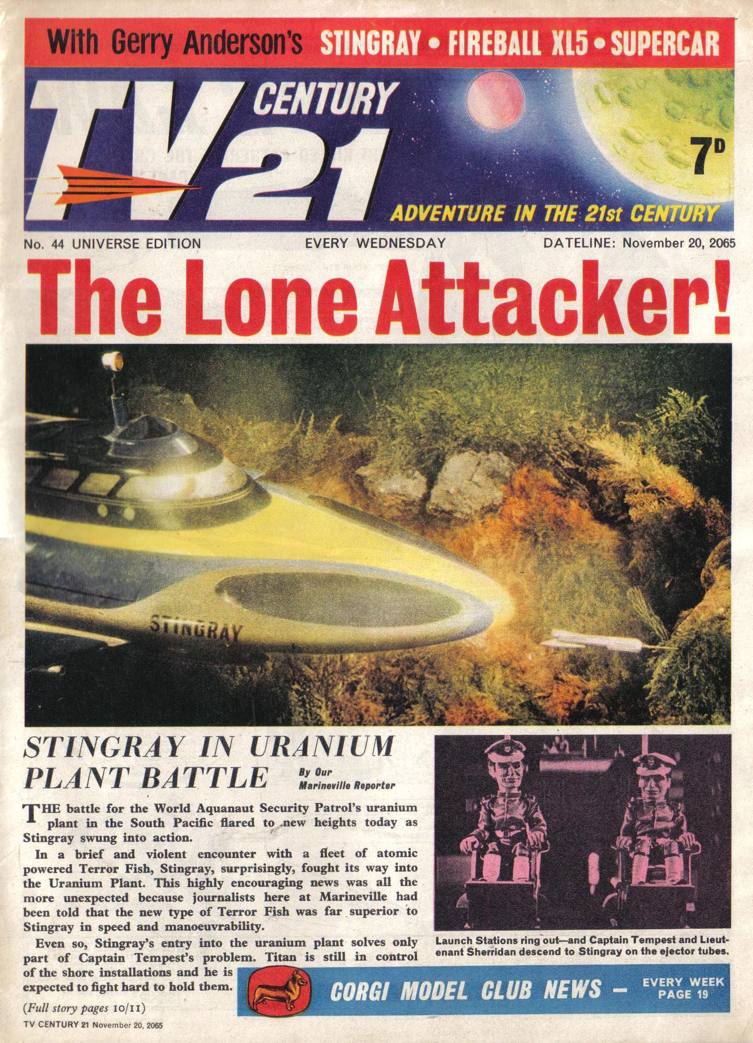 Read online TV Century 21 (TV 21) comic -  Issue #44 - 1