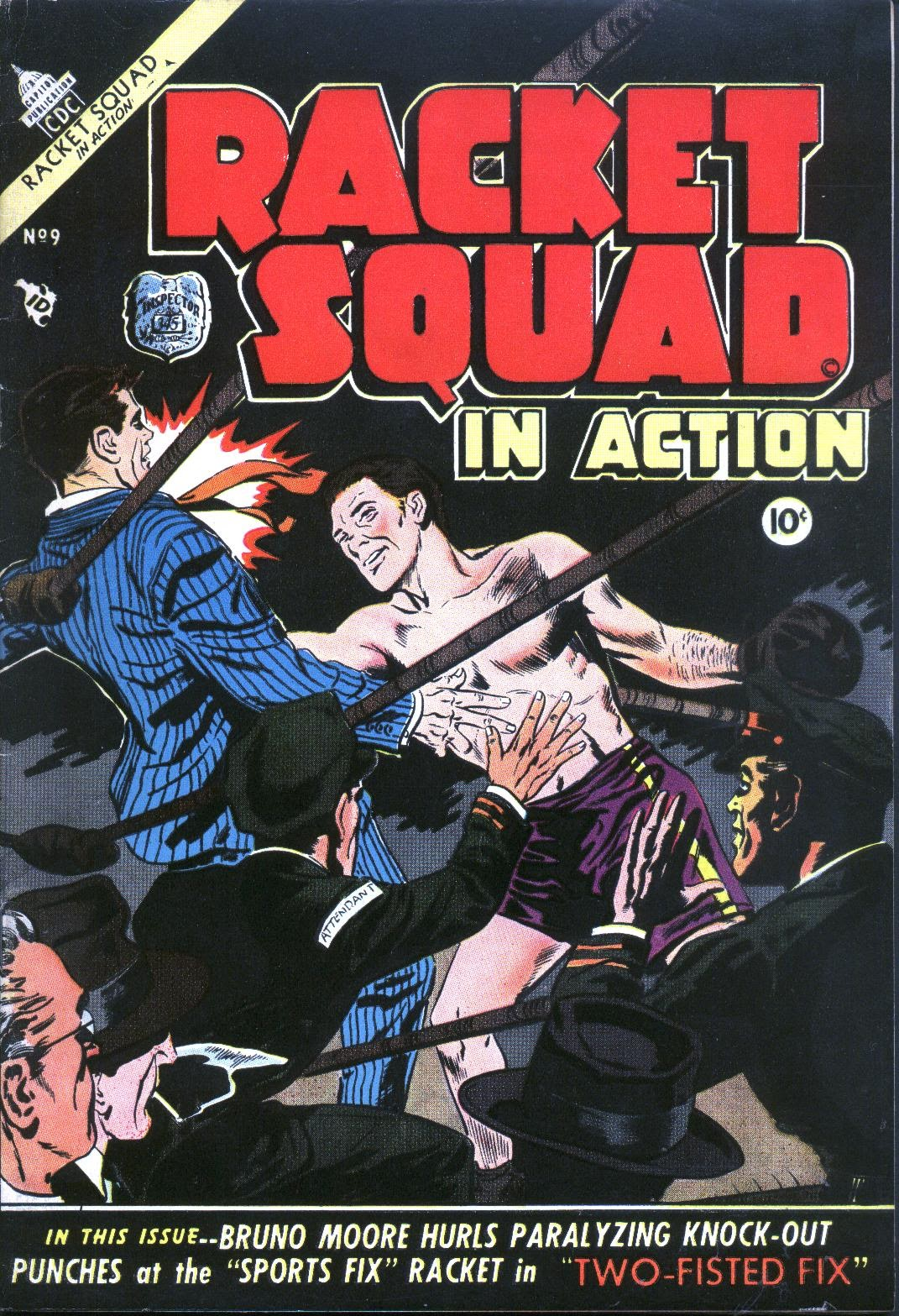 Read online Racket Squad in Action comic -  Issue #9 - 1