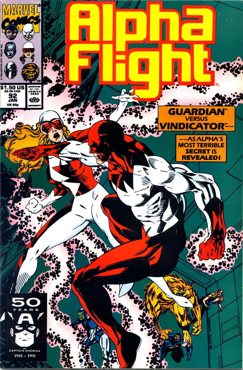 Read online Alpha Flight (1983) comic -  Issue #92 - 1