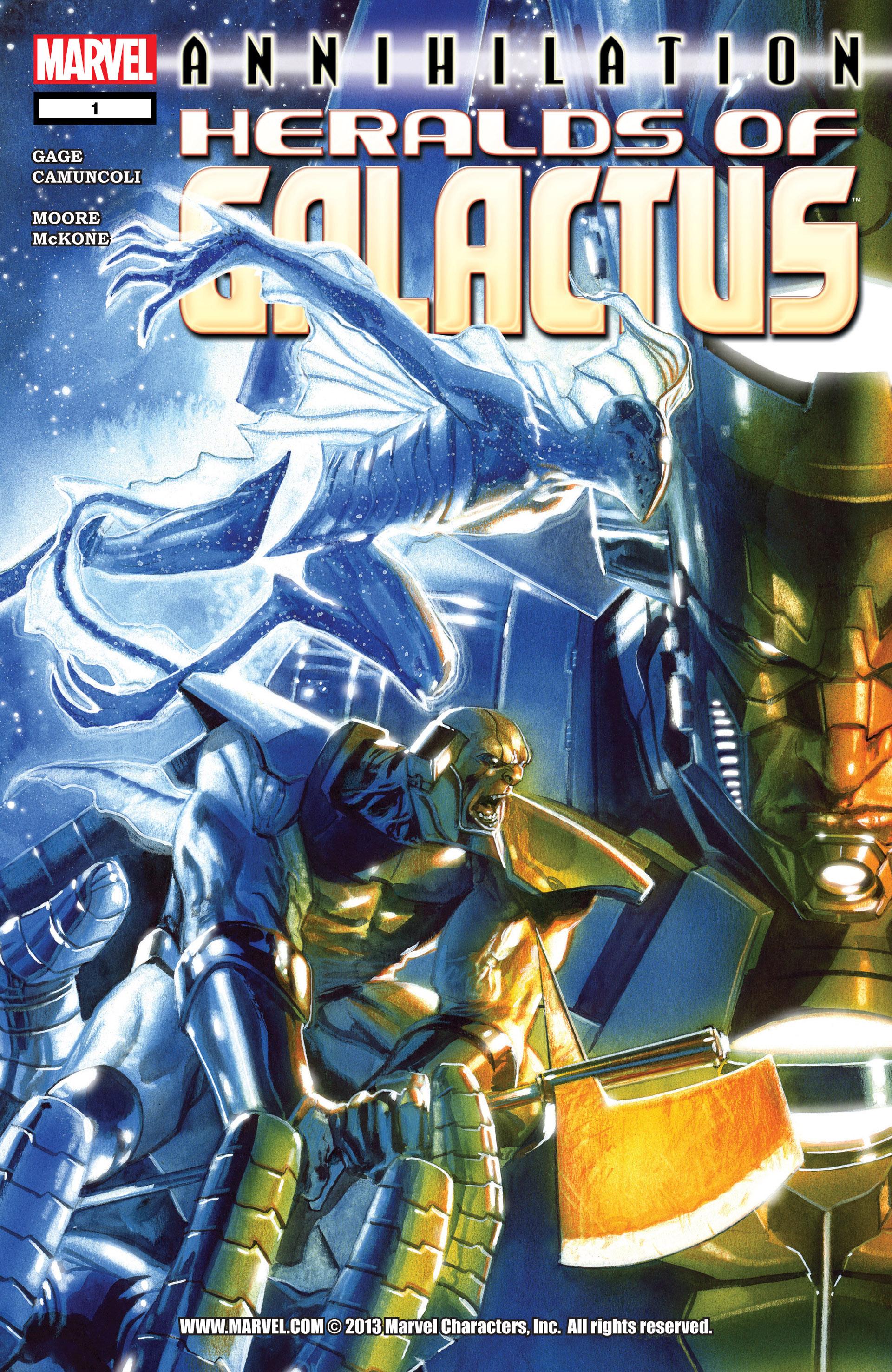Read online Annihilation: Heralds Of Galactus comic -  Issue #1 - 1