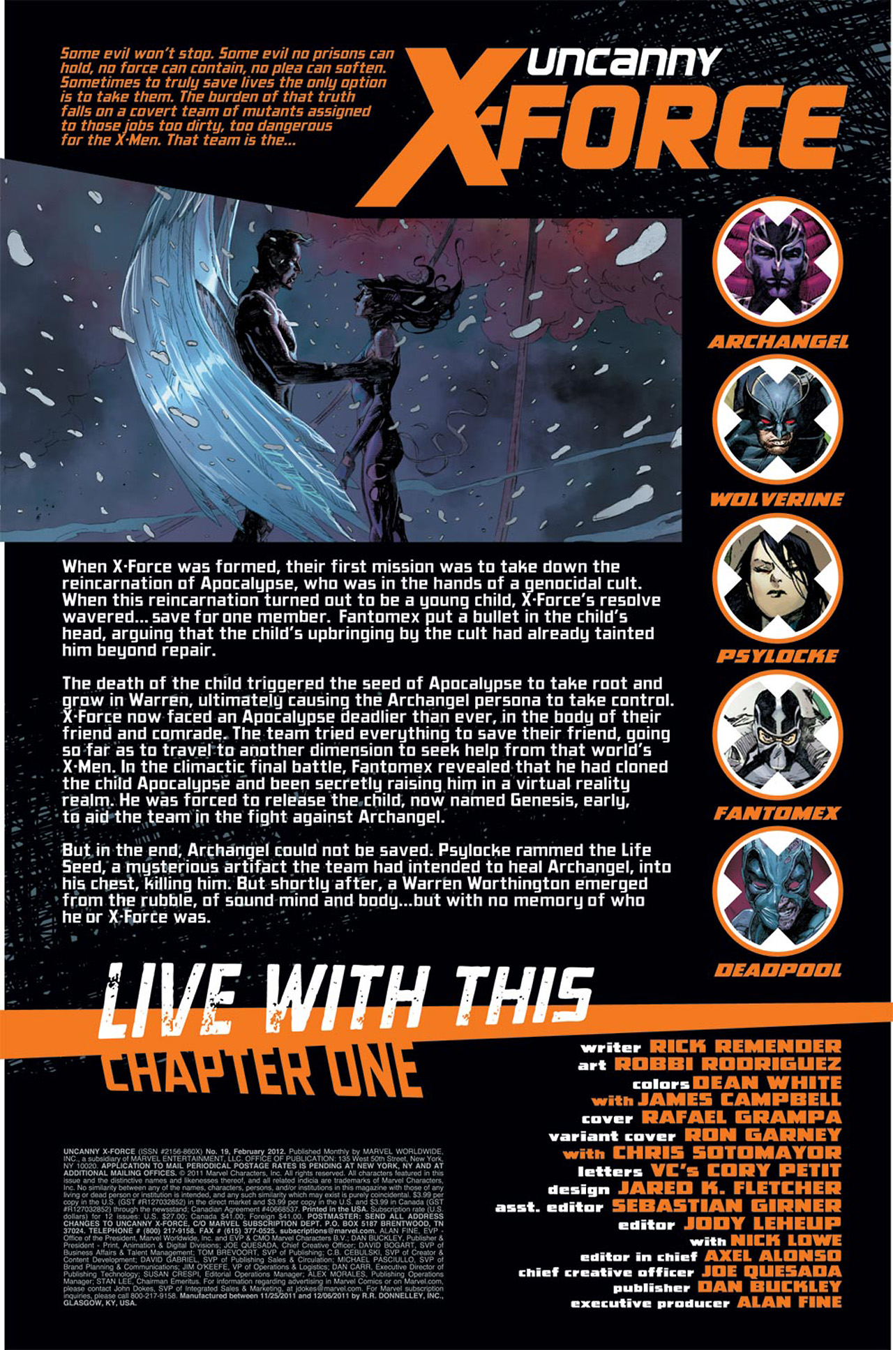 Read online Uncanny X-Force (2010) comic -  Issue #19 - 2