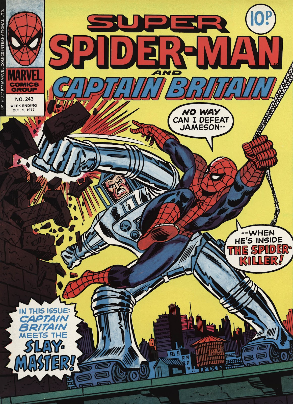 Super Spider-Man and Captain Britain issue 243 - Page 1