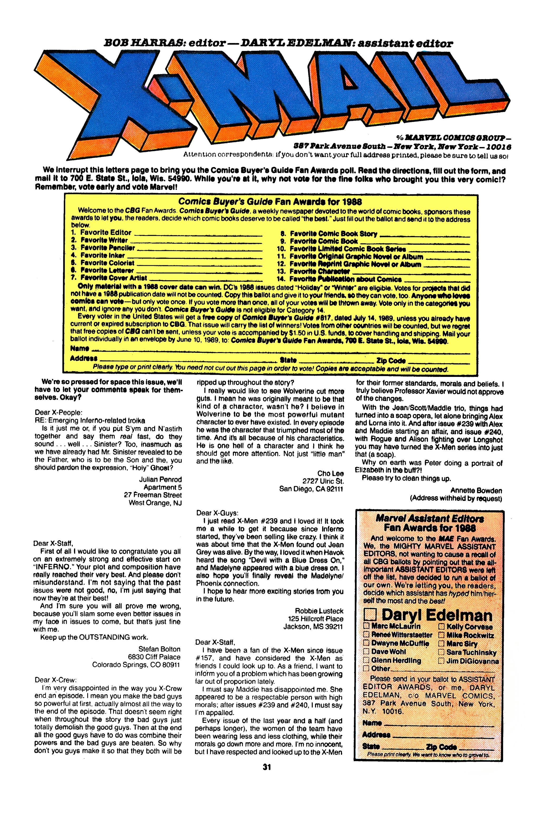 Read online Uncanny X-Men (1963) comic -  Issue #247 - 24