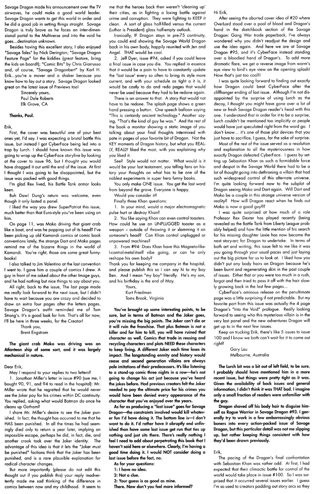 The Savage Dragon (1993) Issue #97 #100 - English 27
