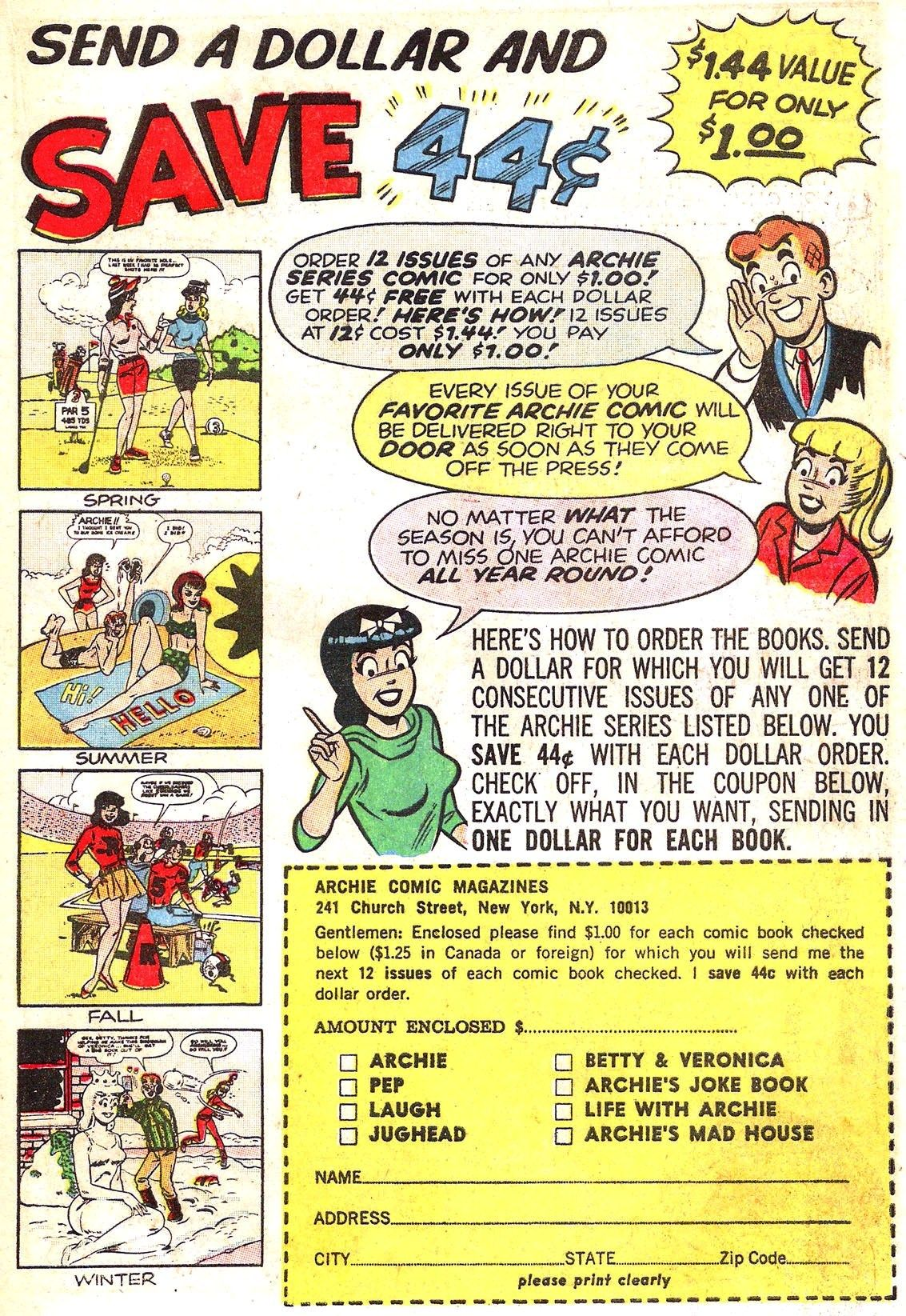 Read online Archie (1960) comic -  Issue #153 - 19