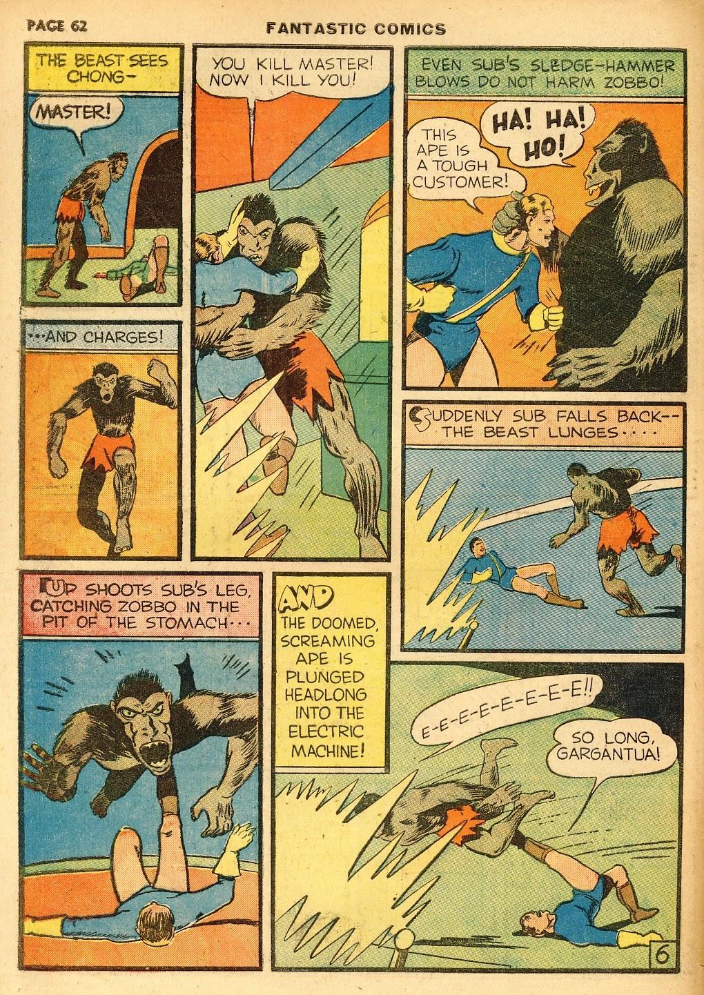 Read online Fantastic Comics comic -  Issue #10 - 63