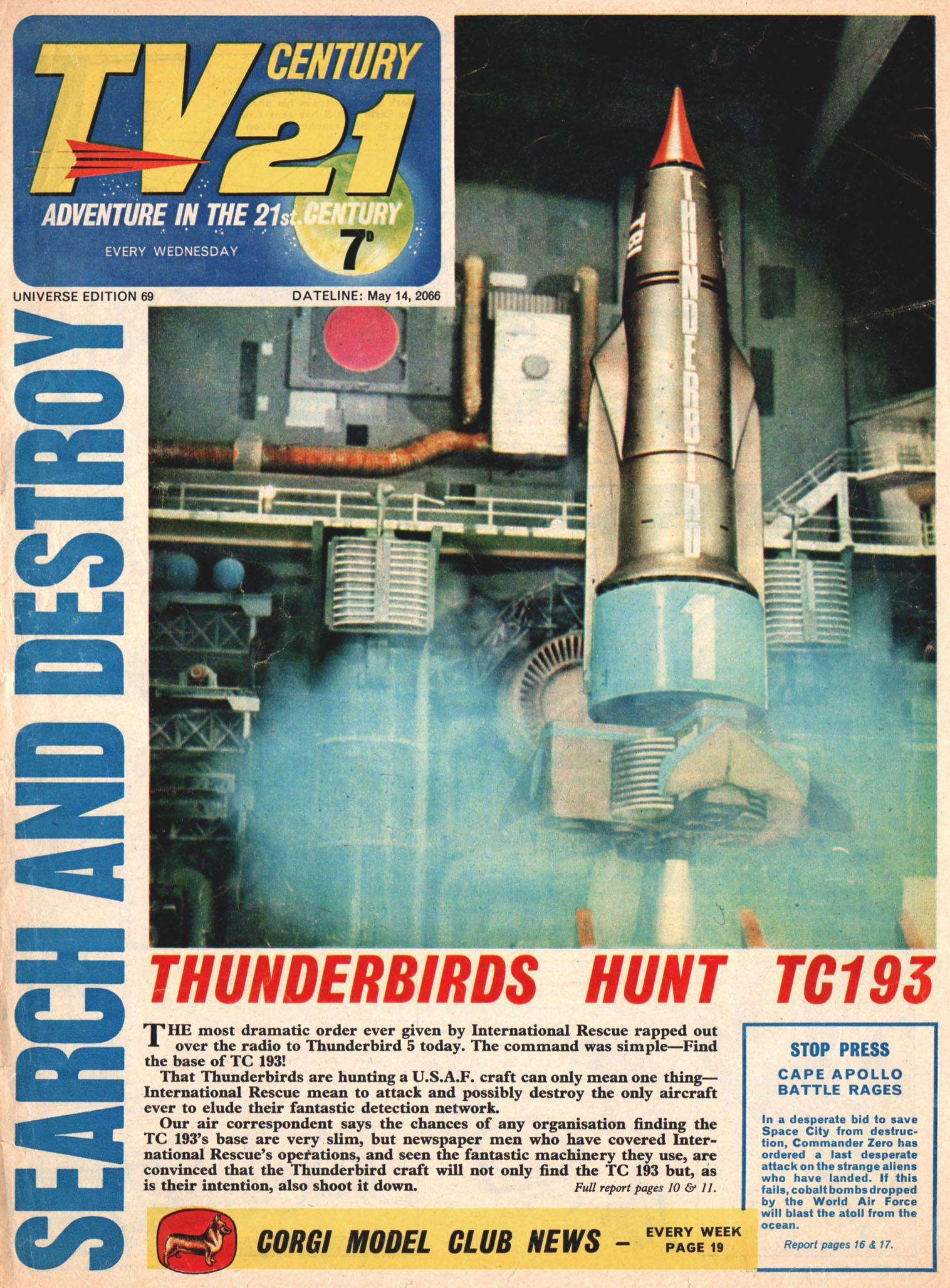 Read online TV Century 21 (TV 21) comic -  Issue #69 - 1