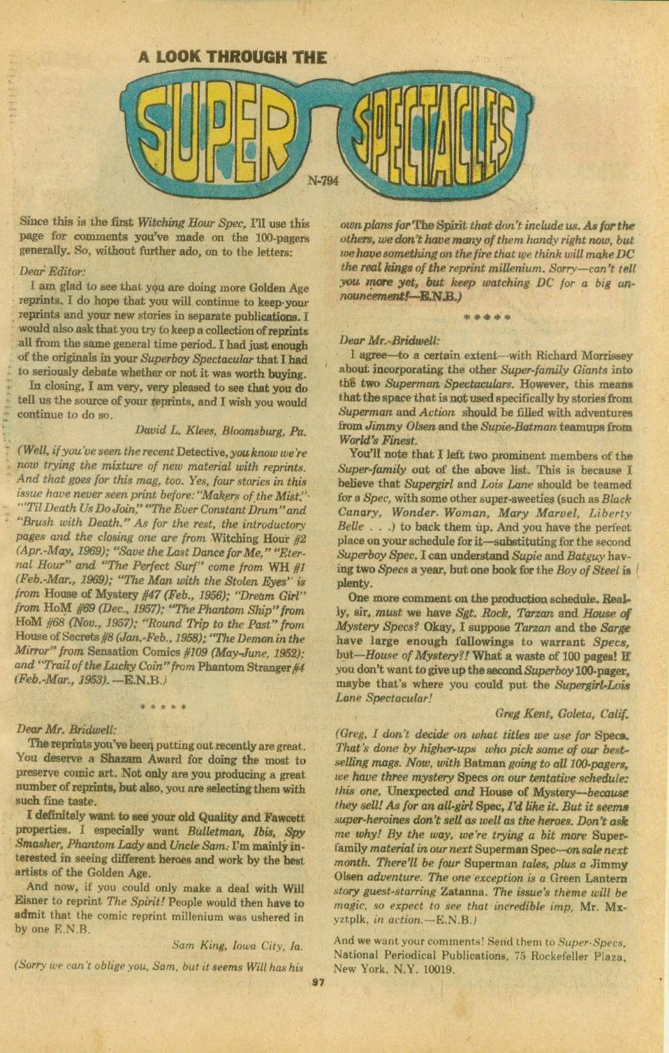 The Witching Hour (1969) issue 38 - Page 99