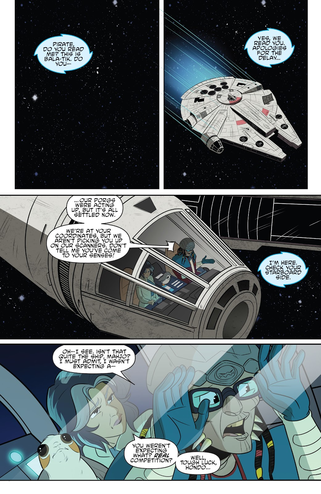 Read online Star Wars Adventures: Flight of the Falcon comic -  Issue # Full - 9