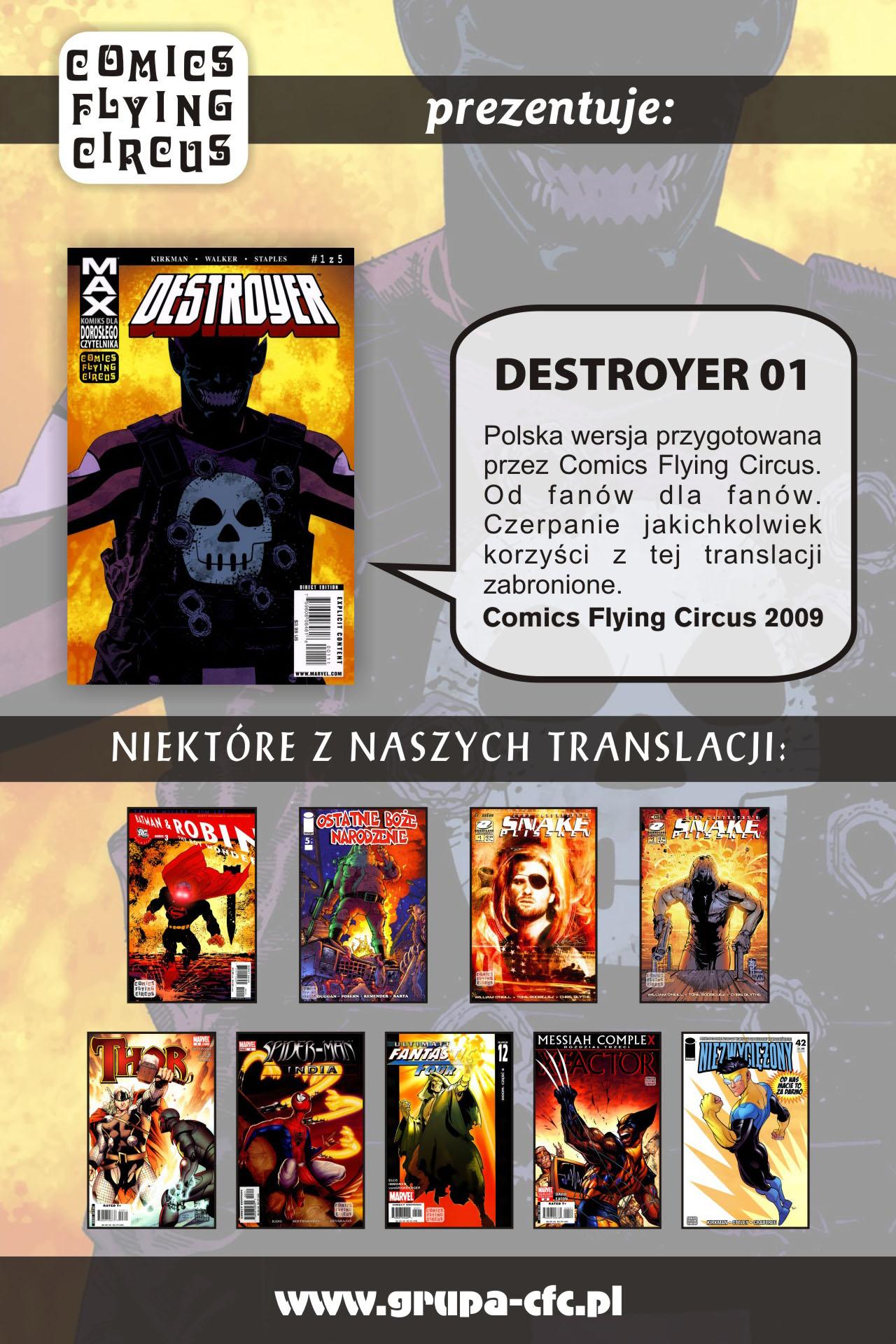 Read online Destroyer comic -  Issue #1 - 22