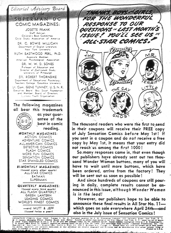 Read online Sensation (Mystery) Comics comic -  Issue #6 - 2