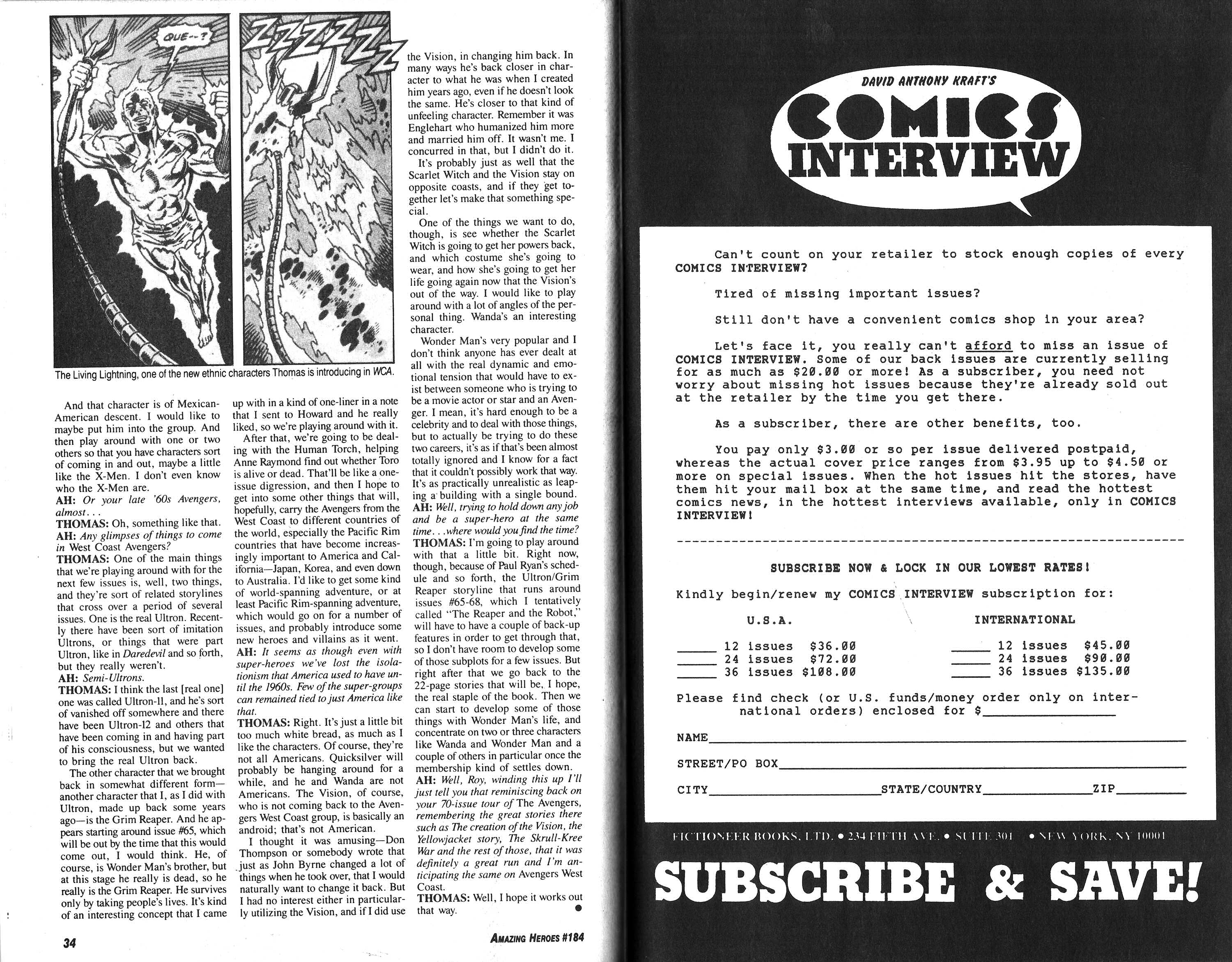 Read online Amazing Heroes comic -  Issue #184 - 18