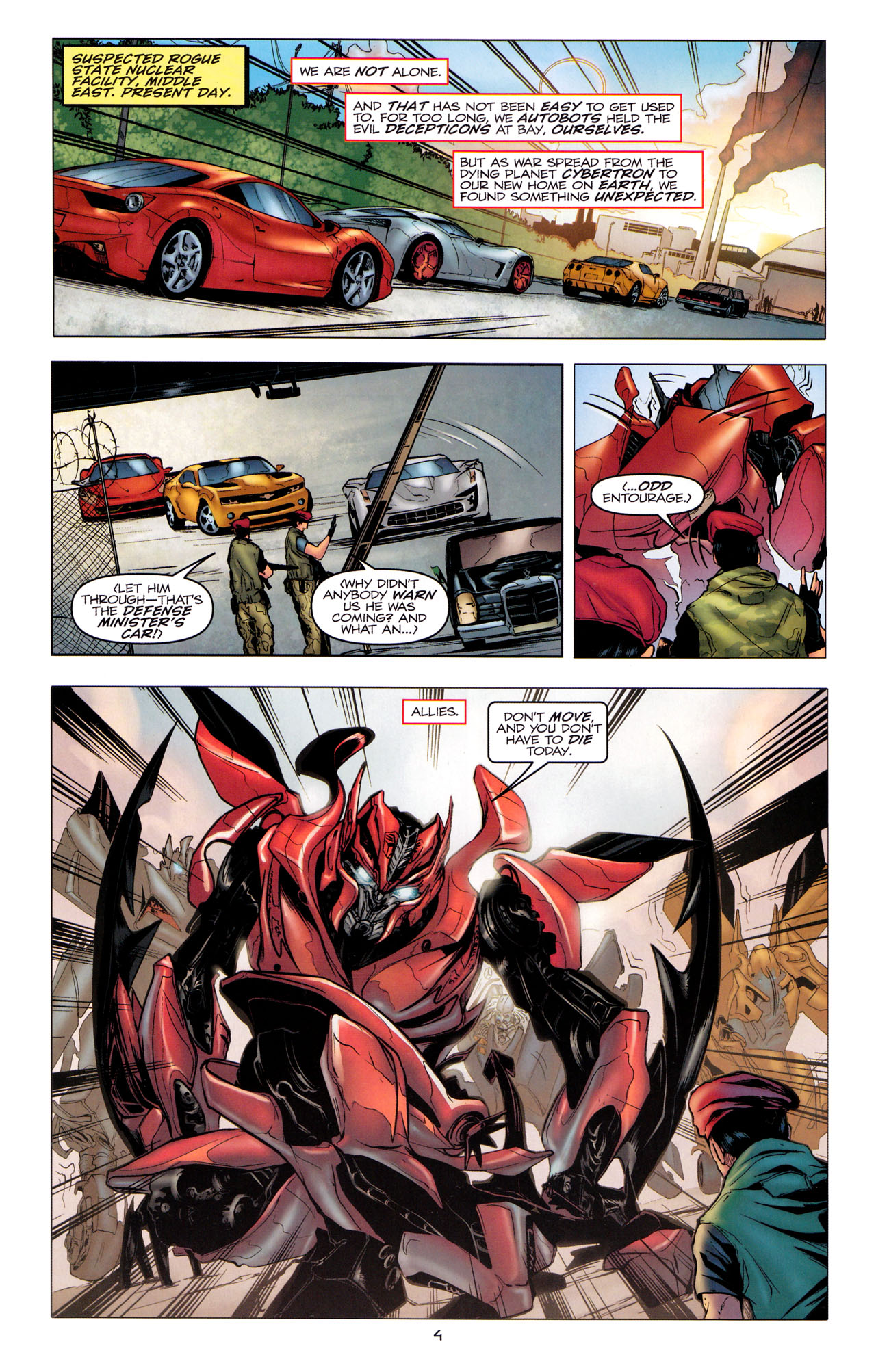 Read online Transformers: Dark of the Moon Movie Adaptation comic -  Issue #1 - 6