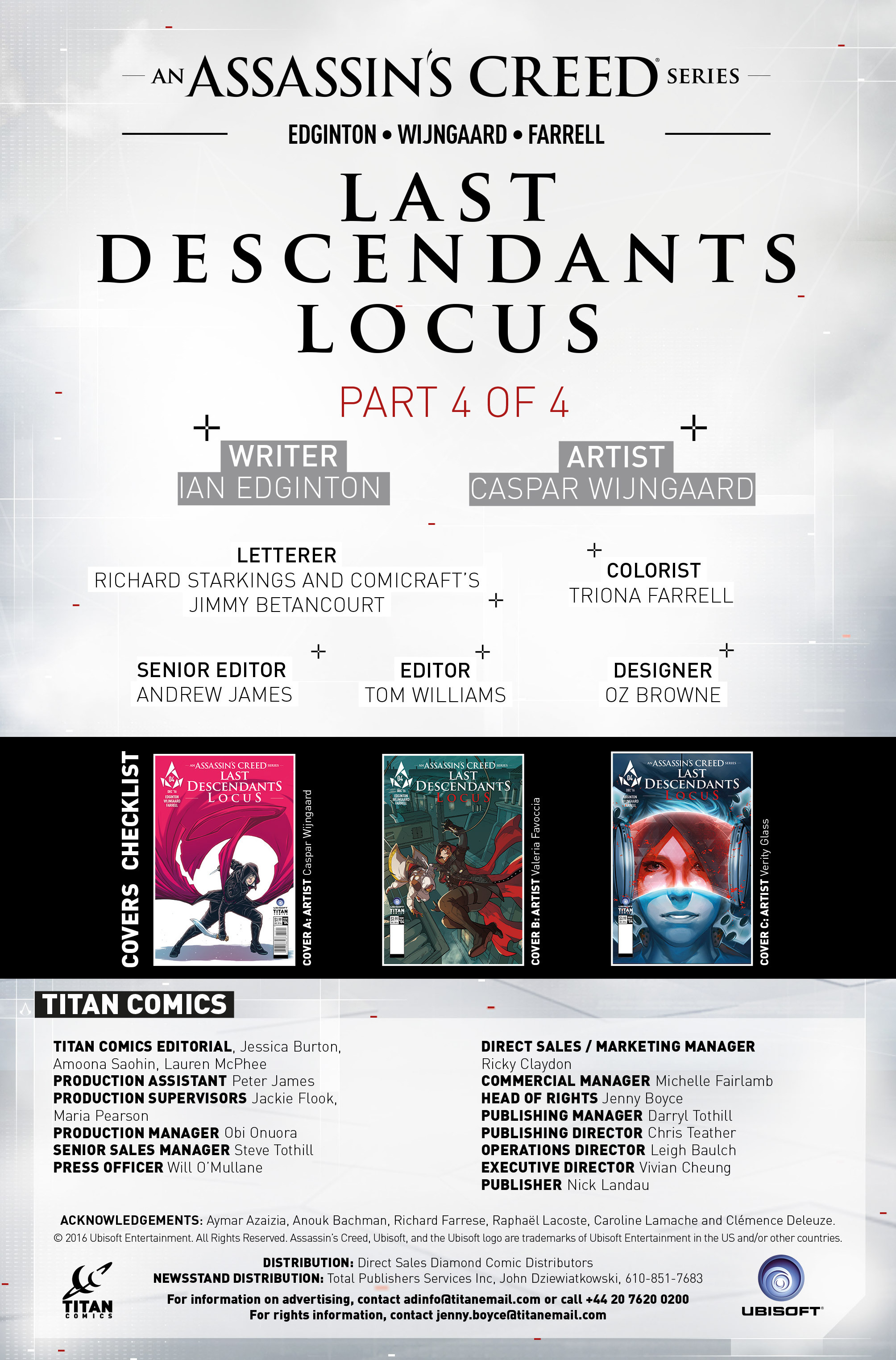Read online Assassin's Creed: Locus comic -  Issue #4 - 27