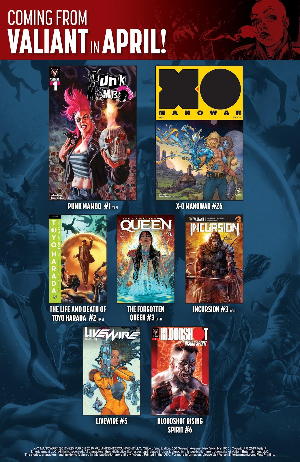 Read online X-O Manowar (2017) comic -  Issue #25 - 33