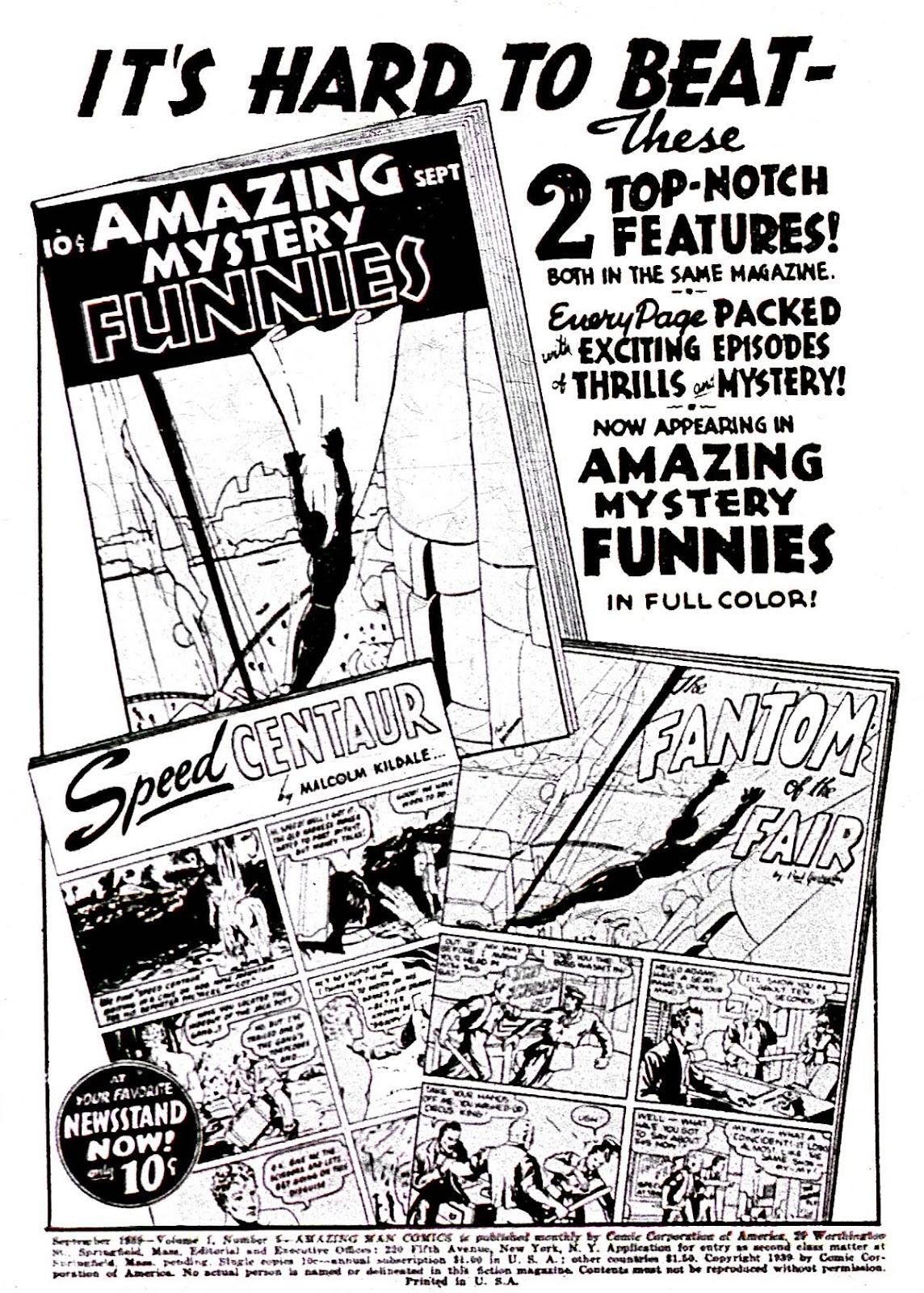 Amazing Man Comics issue 5 - Page 2