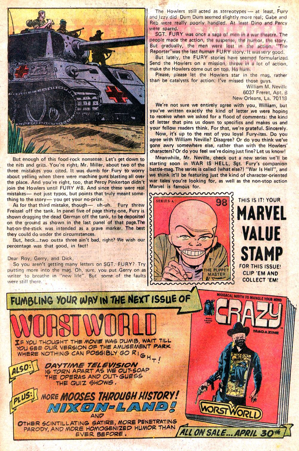 Read online Sgt. Fury comic -  Issue #120 - 21