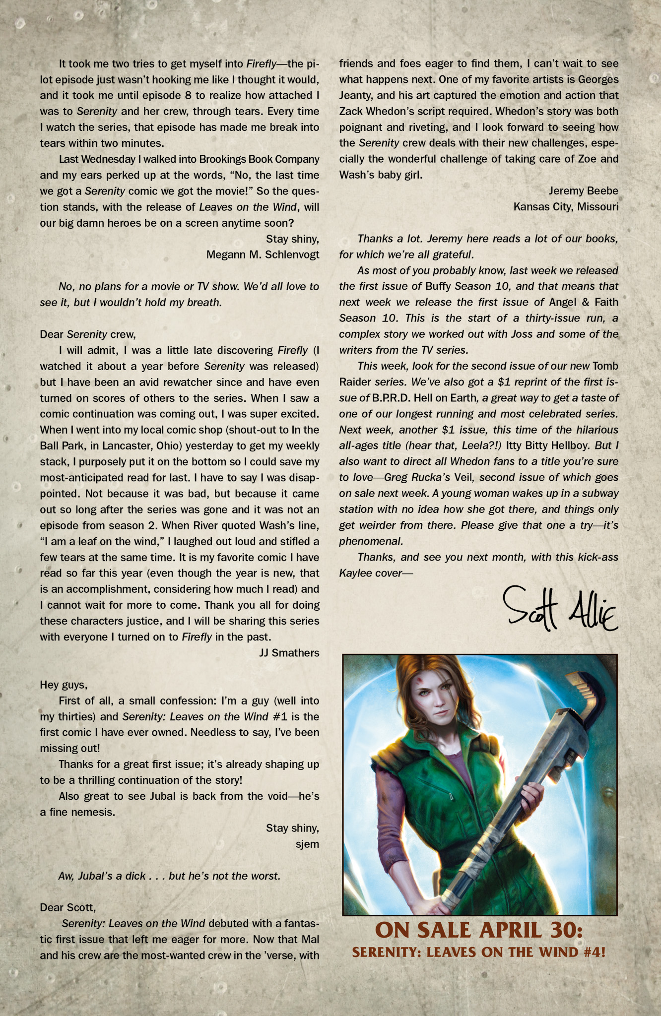 Read online Serenity: Firefly Class 03-K64  Leaves on the Wind comic -  Issue #3 - 26