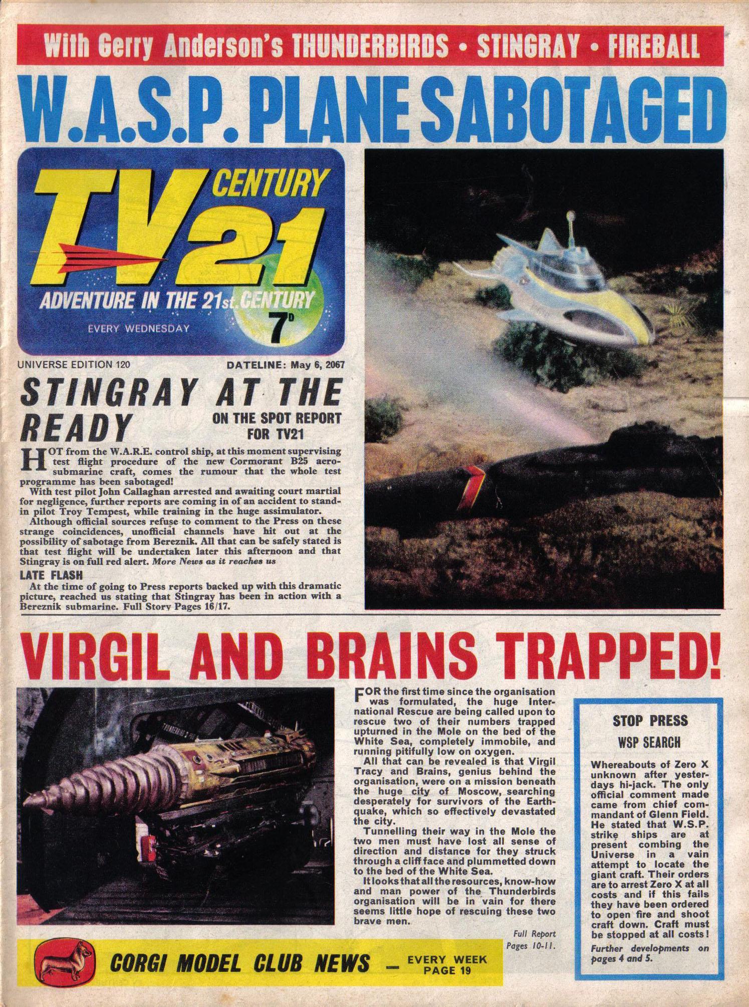 Read online TV Century 21 (TV 21) comic -  Issue #120 - 1