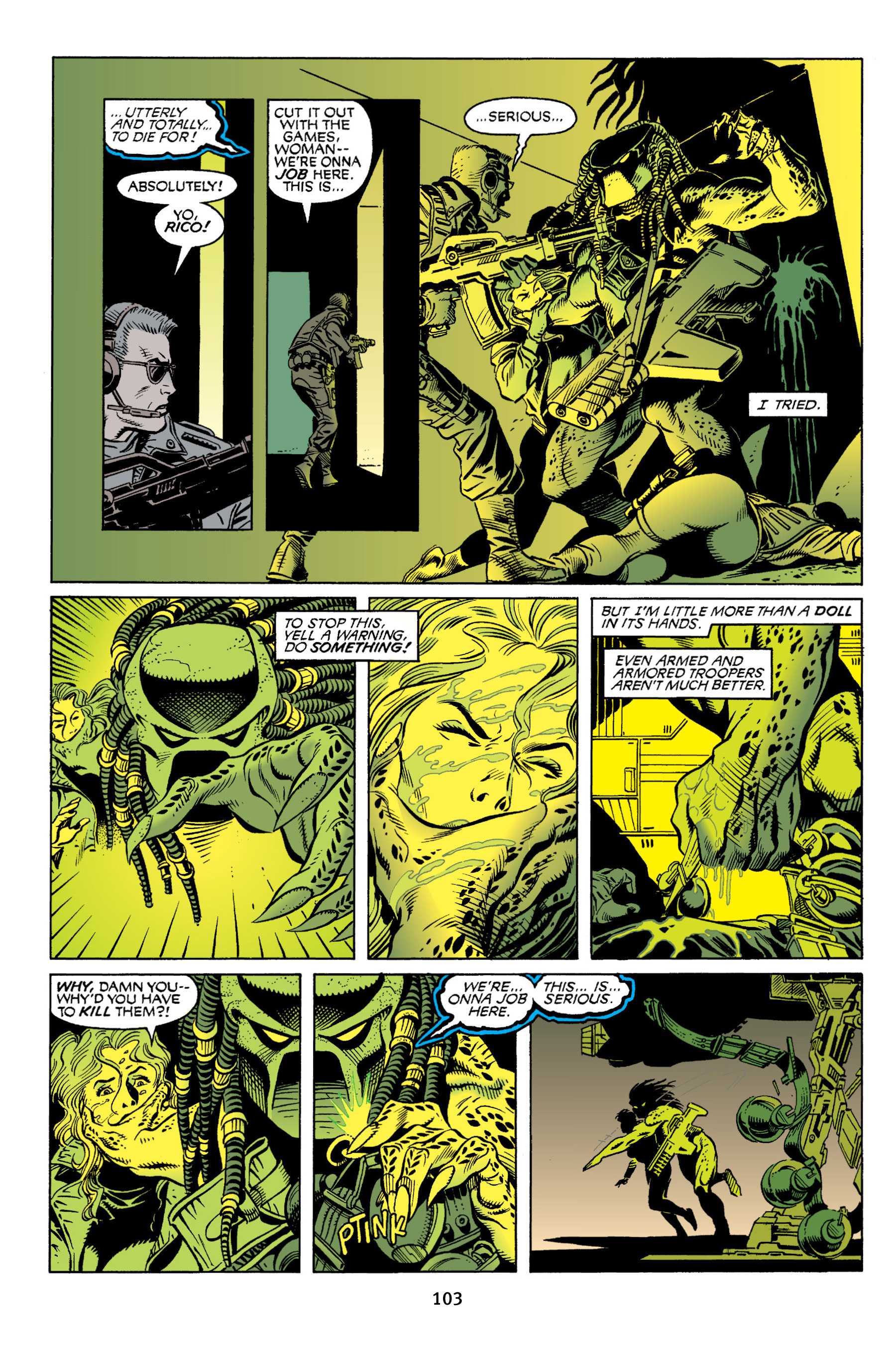 Read online Aliens vs. Predator Omnibus comic -  Issue # _TPB 2 Part 1 - 102