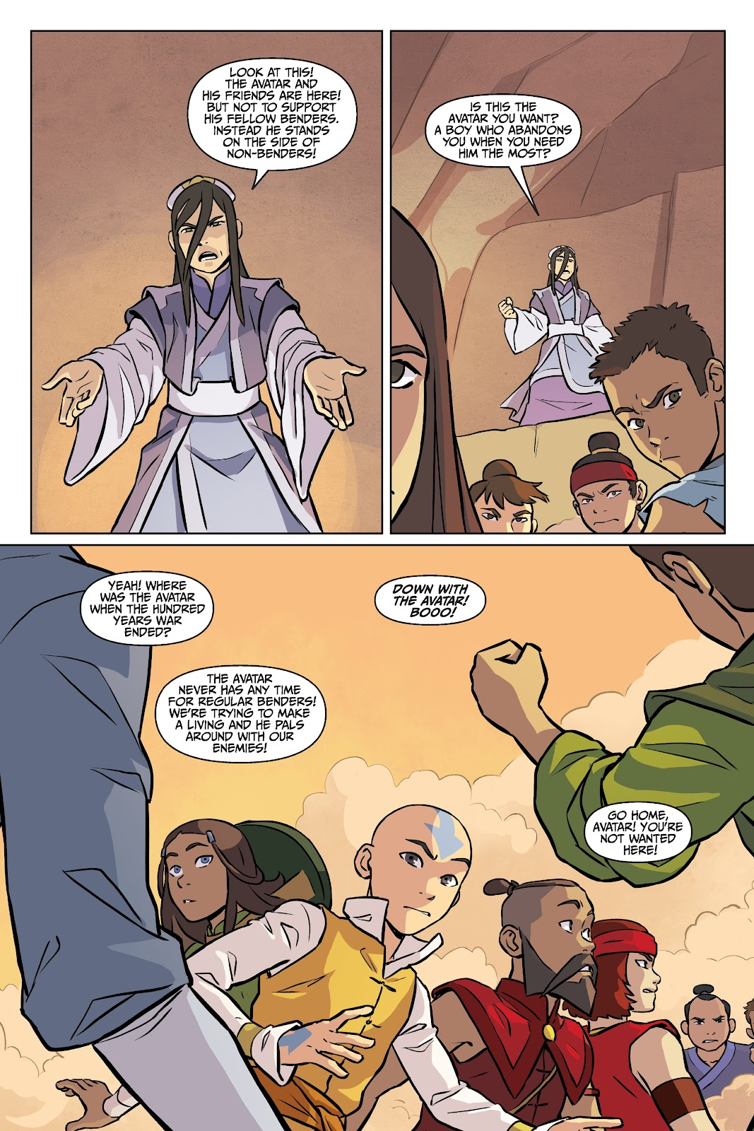 Read online Nickelodeon Avatar: The Last Airbender - Imbalance comic -  Issue # TPB 2 - 56