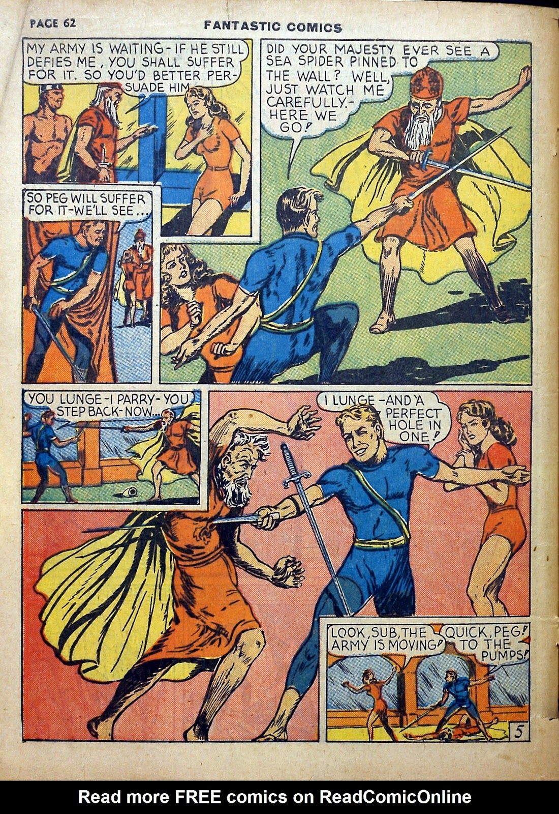 Read online Fantastic Comics comic -  Issue #5 - 63