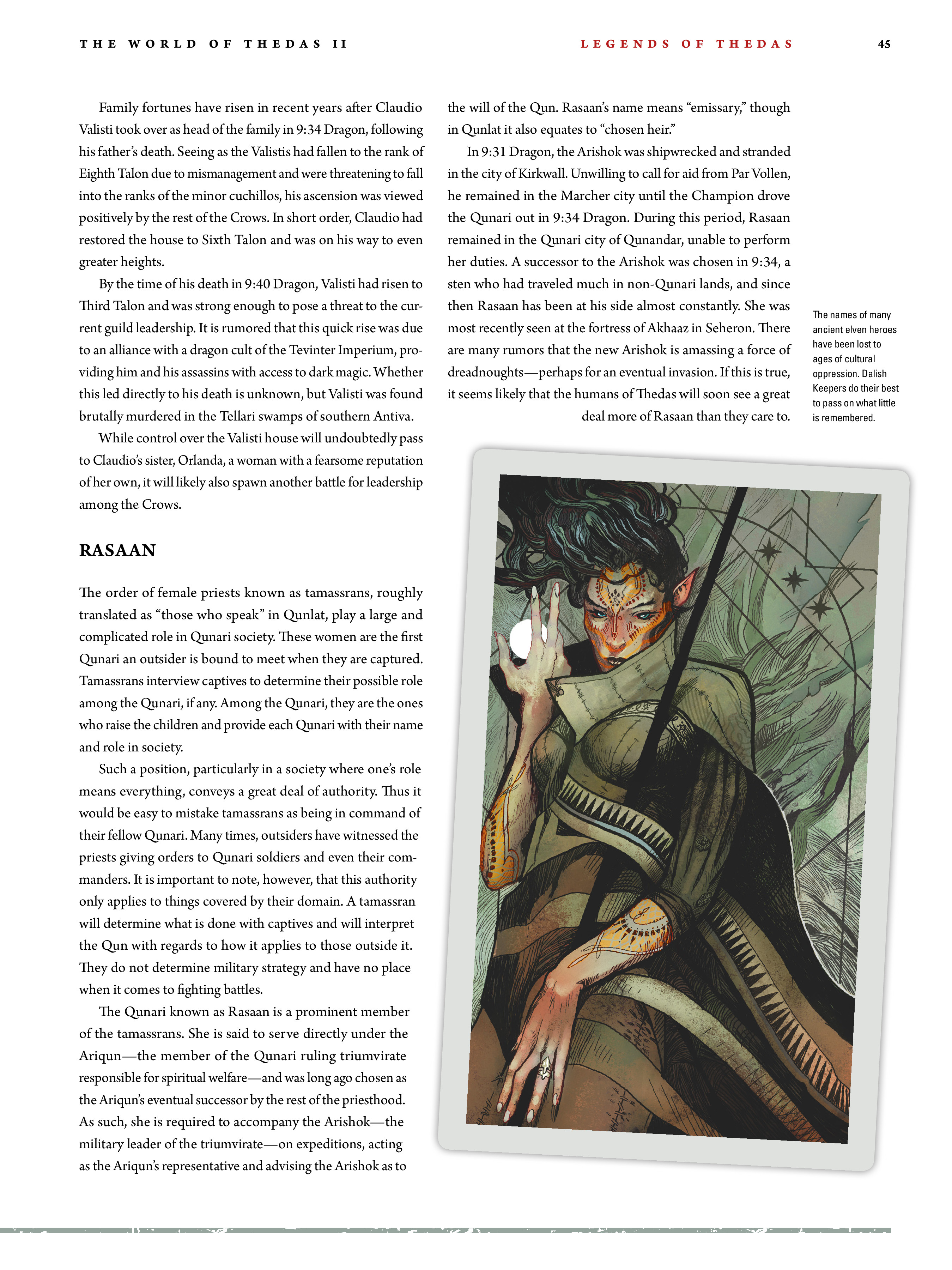 Read online Dragon Age: The World of Thedas comic -  Issue # TPB 2 - 42