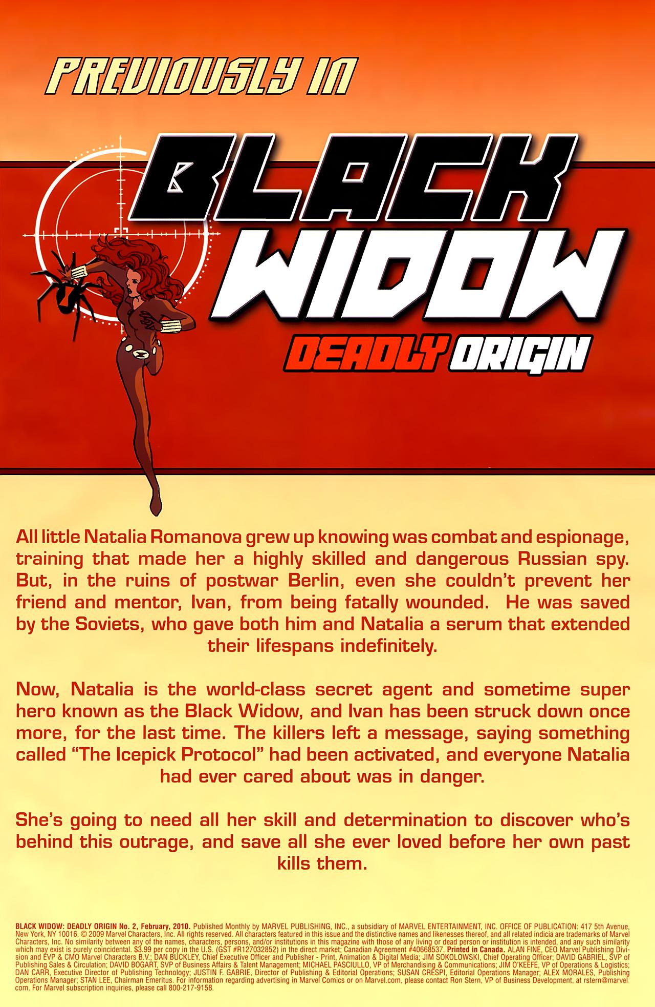 Black Widow: Deadly Origin 2 Page 2